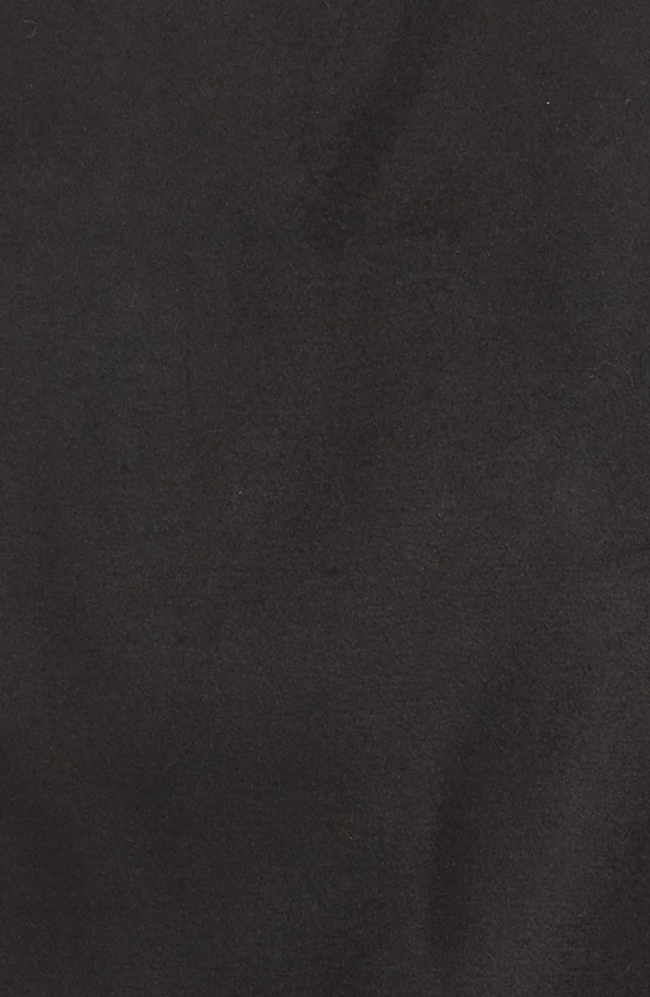 Jacket with Faux Fur Trim,                             Alternate thumbnail 6, color,                             001