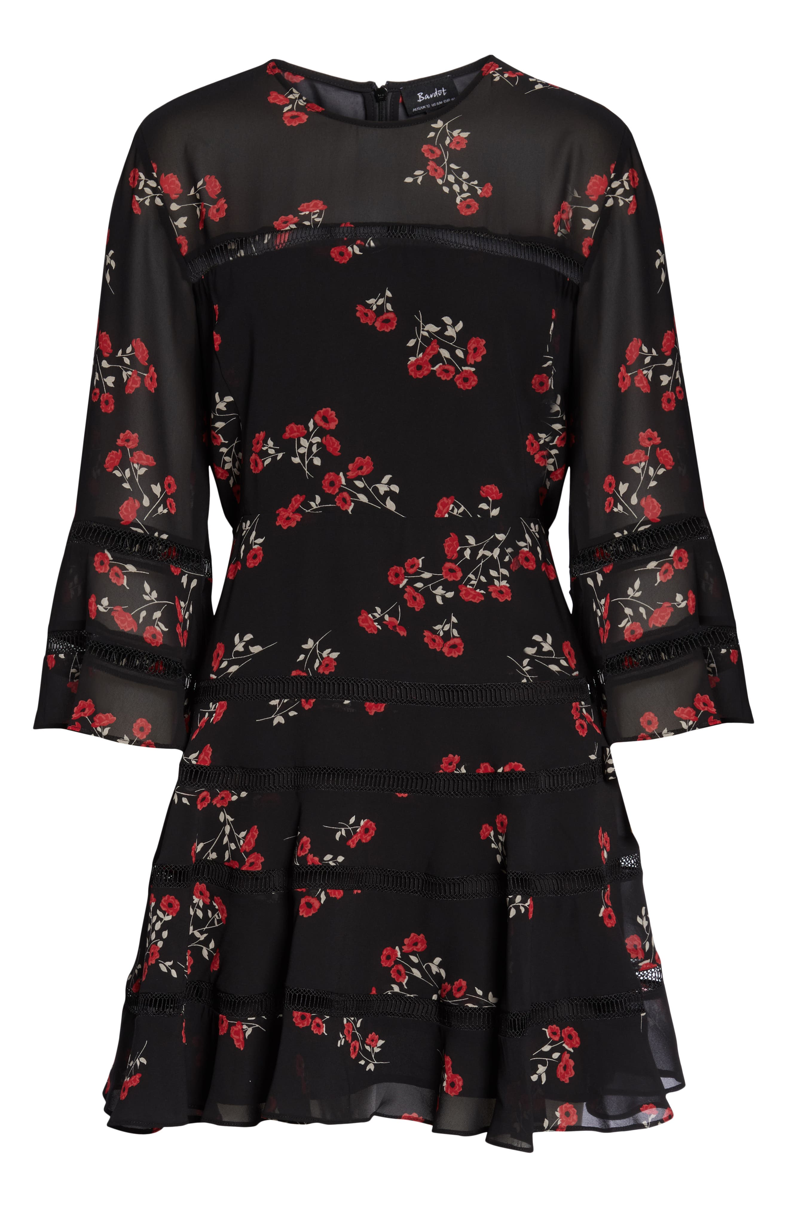 Poppy Print Dress,                             Alternate thumbnail 5, color,                             DITSY FLORAL