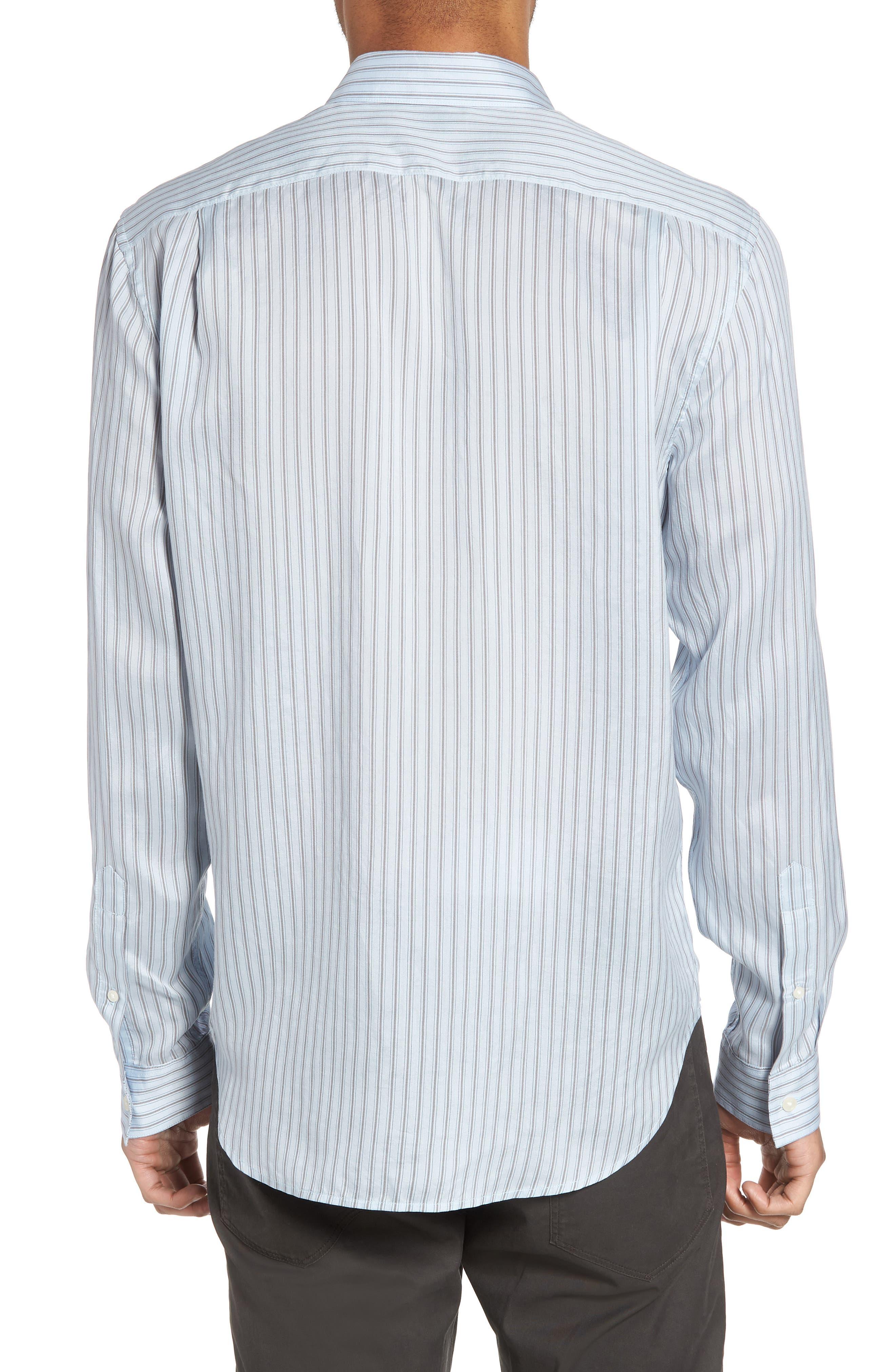 Slim Fit Stretch Stripe Sport Shirt,                             Alternate thumbnail 2, color,                             461