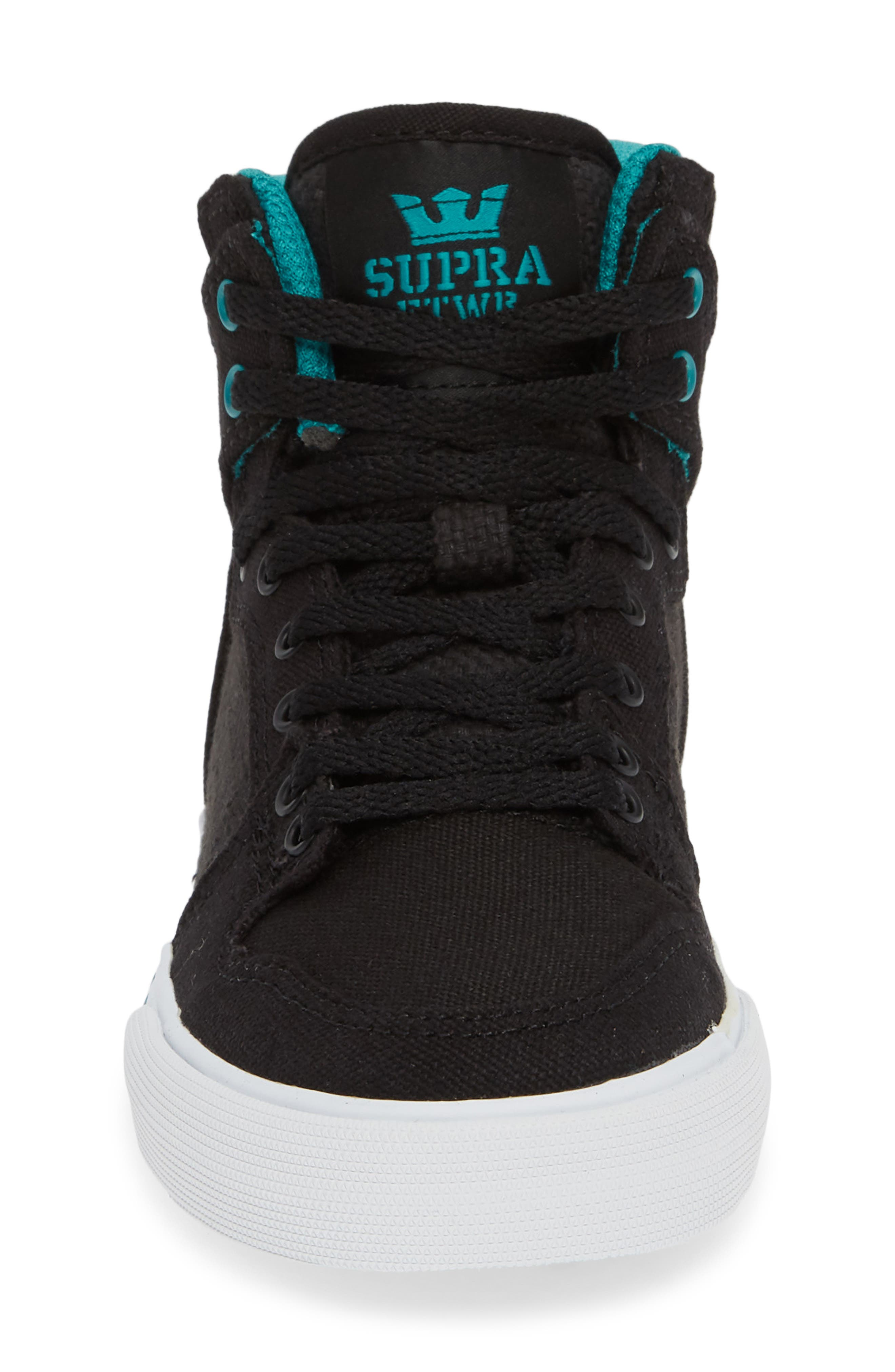 'Vaider' High Top Sneaker,                             Alternate thumbnail 4, color,                             BLACK/ TEAL
