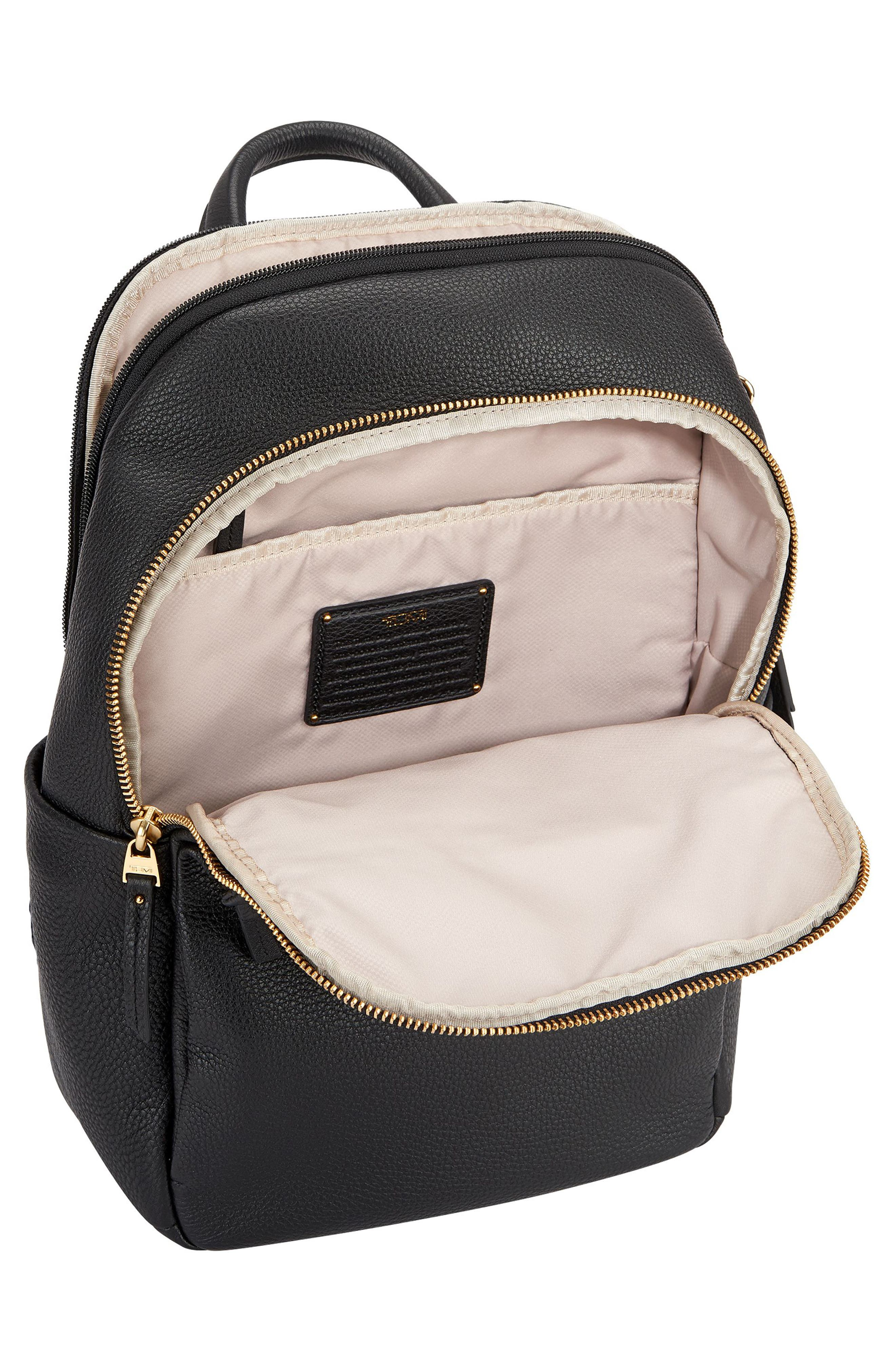 Voyageur - Small Daniella Leather Backpack,                             Alternate thumbnail 2, color,                             001