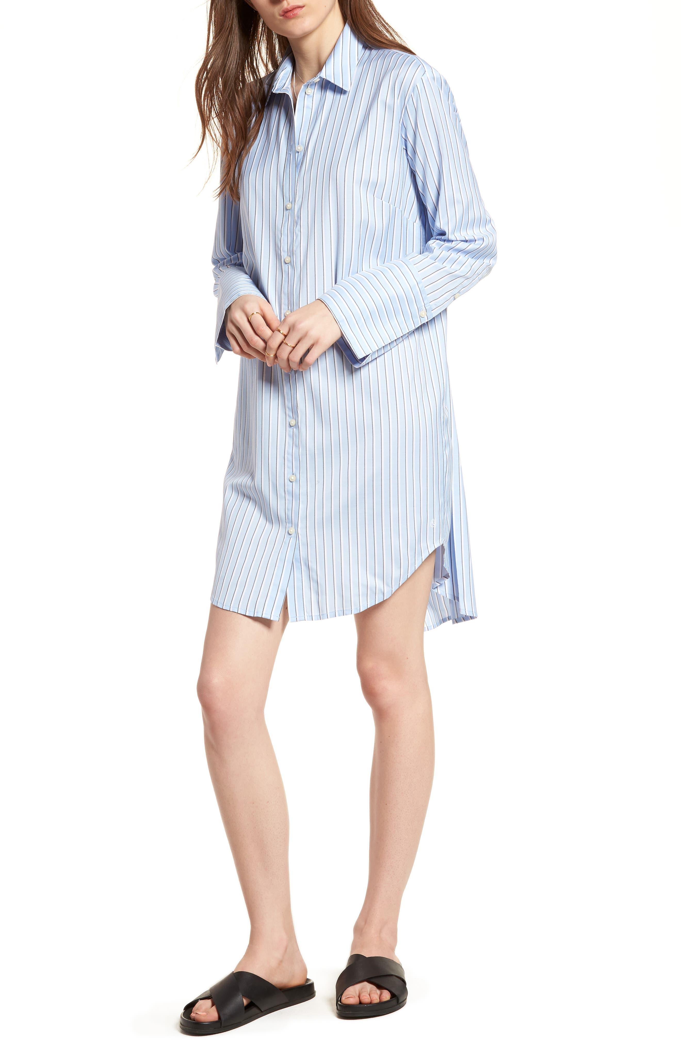 Pleat Back Shirtdress,                         Main,                         color,