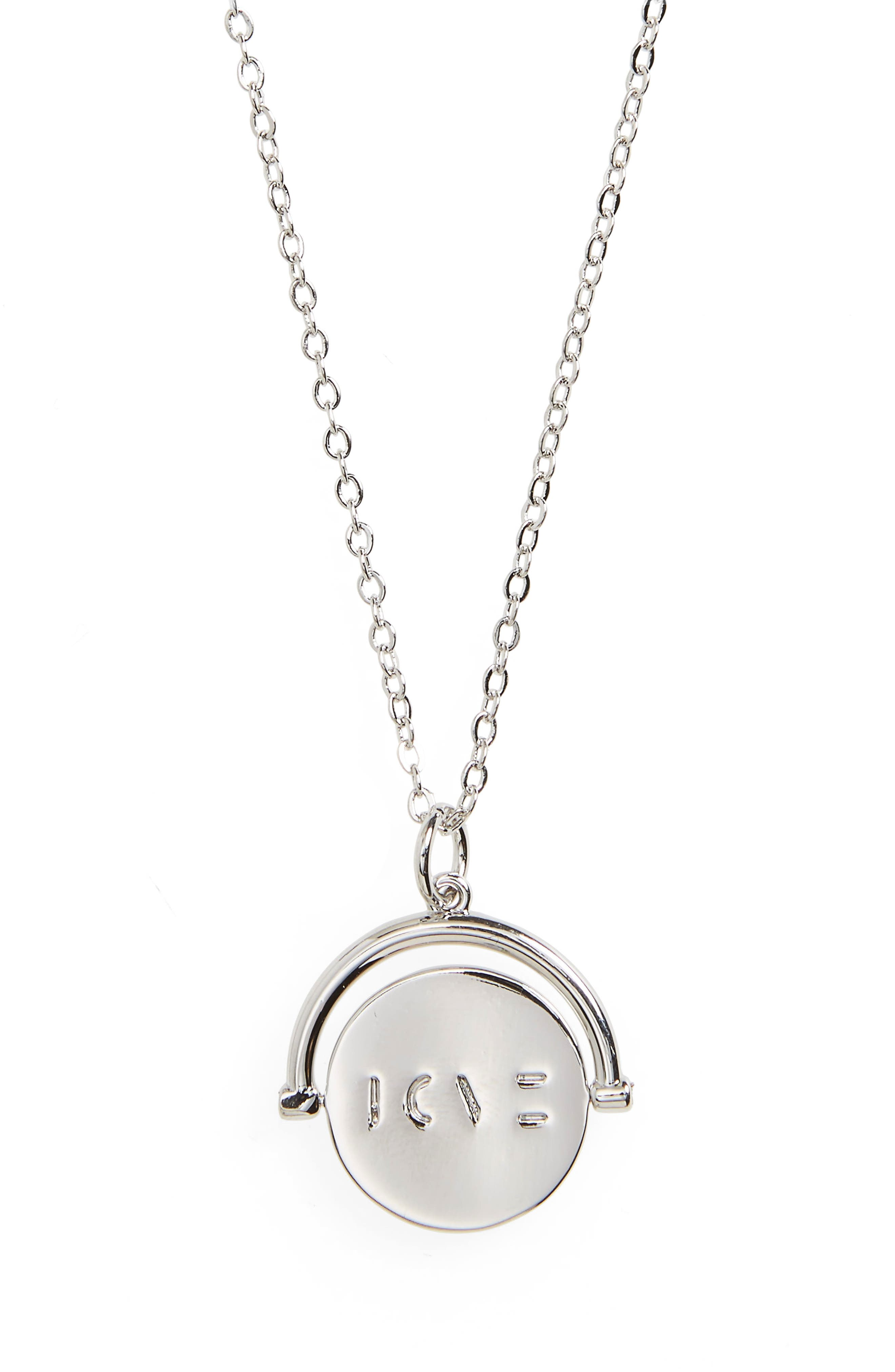 Blessed Love Code Charm Necklace,                             Main thumbnail 2, color,