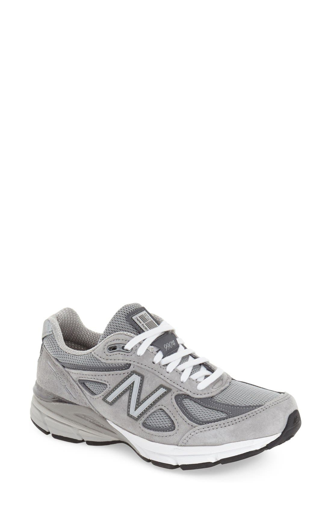 '990 Premium' Running Shoe,                         Main,                         color, COOL GREY