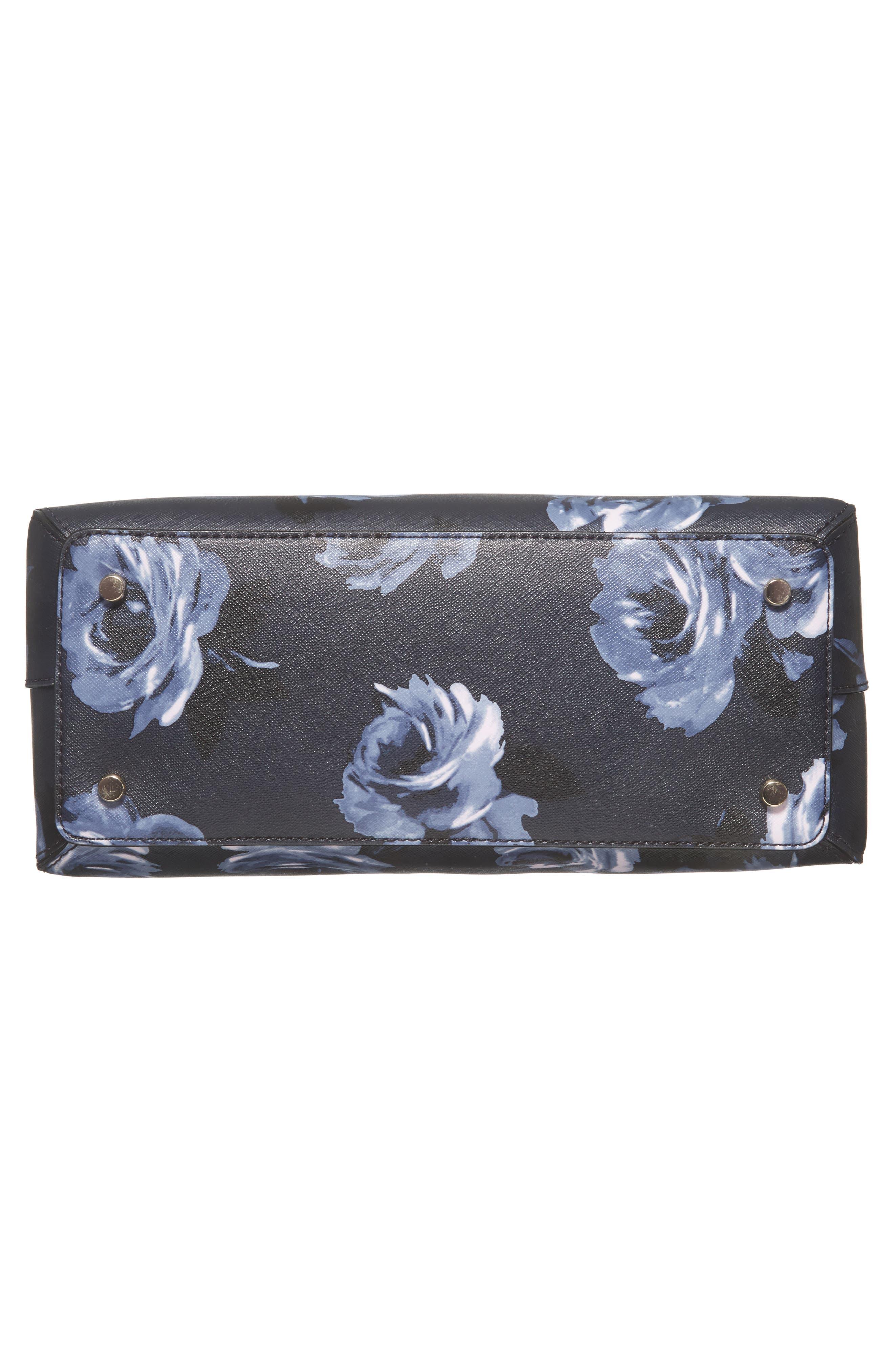 cameron street lottie floral faux leather satchel,                             Alternate thumbnail 6, color,                             458