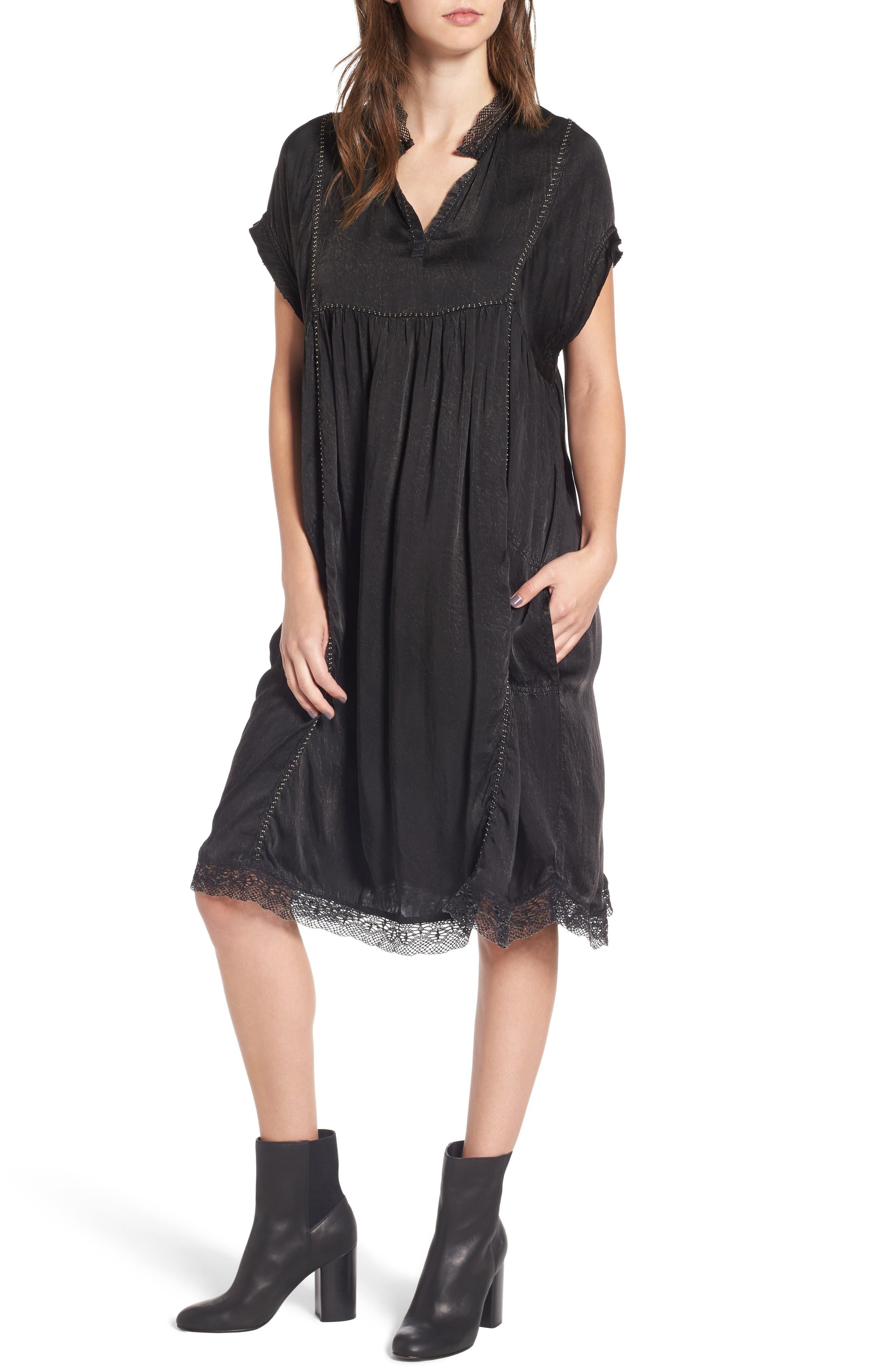 Rastana Babydoll Dress,                             Main thumbnail 1, color,                             001