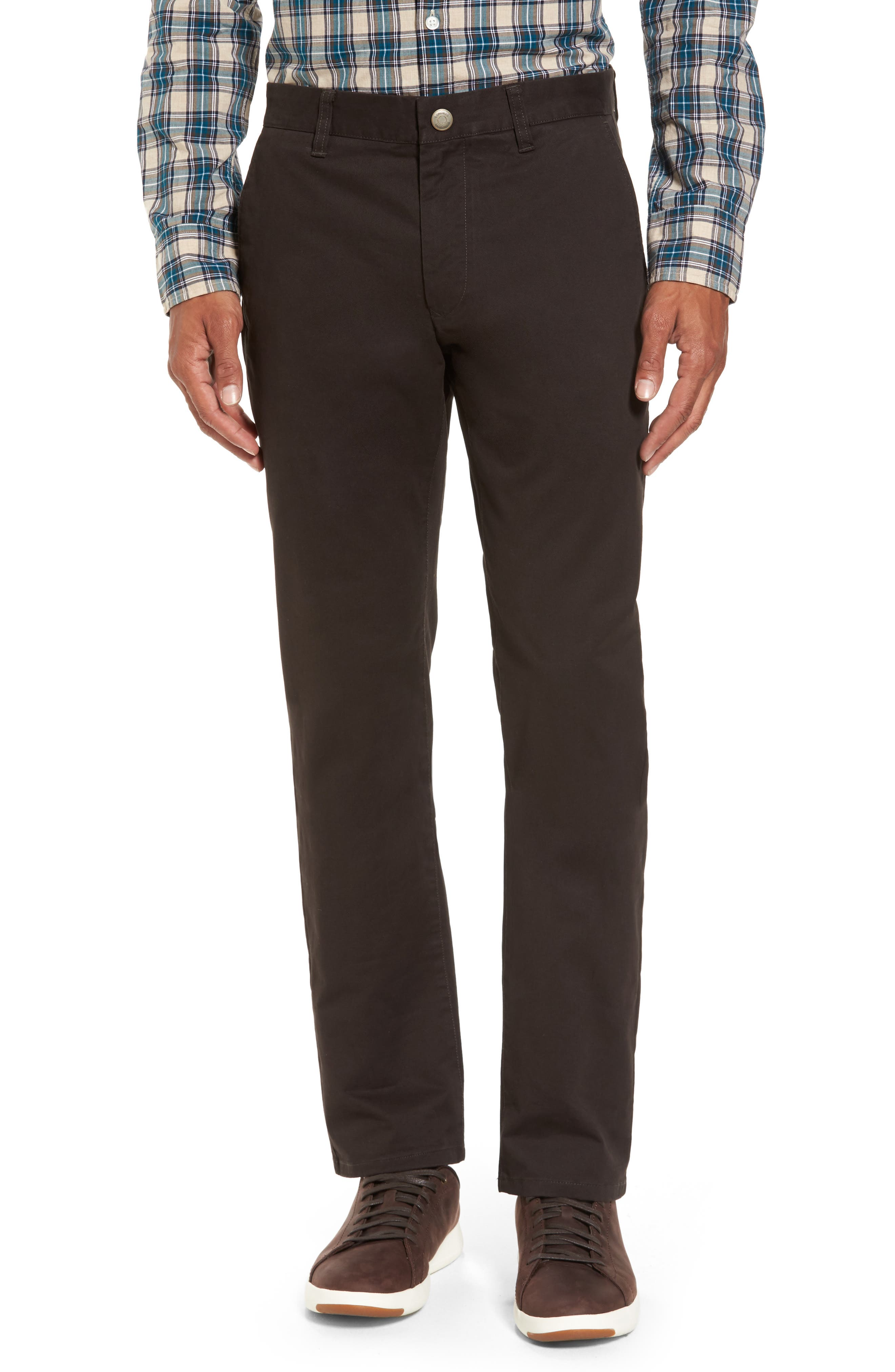 Tailored Fit Washed Stretch Cotton Chinos,                             Main thumbnail 3, color,