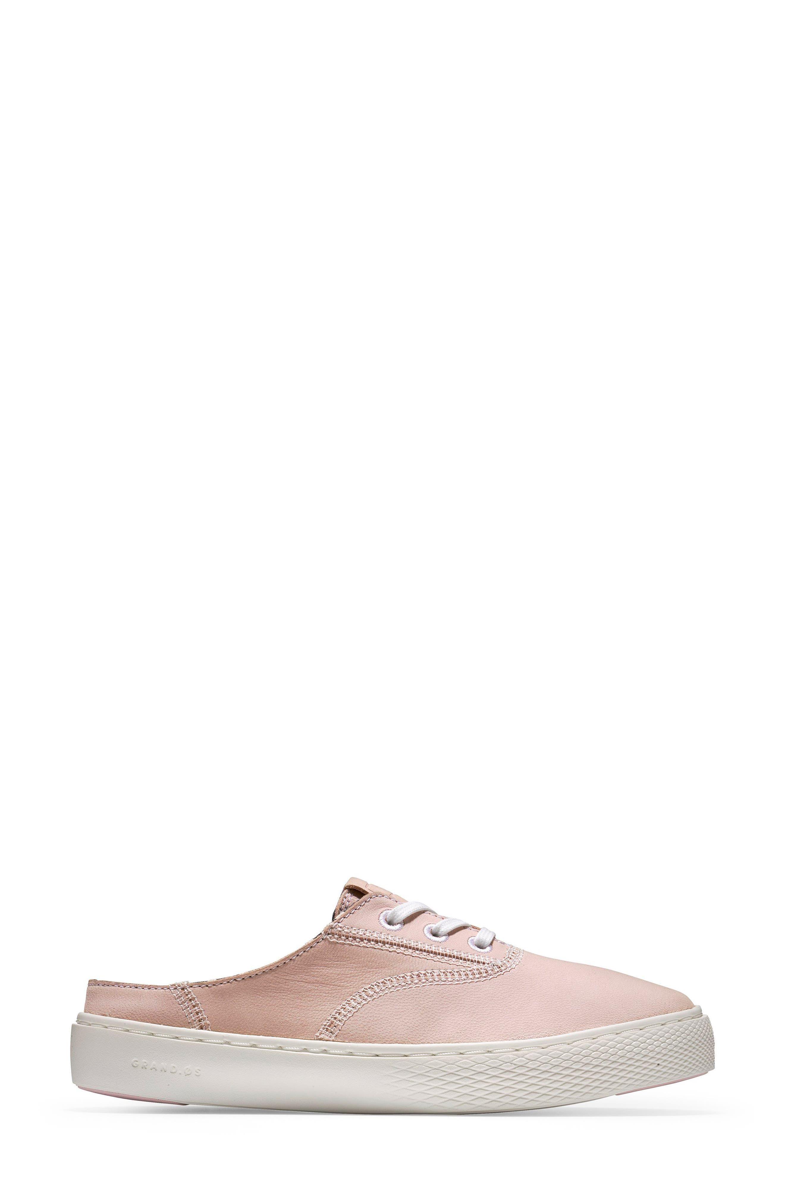 GrandPro Deck Sneaker,                             Alternate thumbnail 3, color,                             PETAL/ OPTIC WHITE NUBUCK