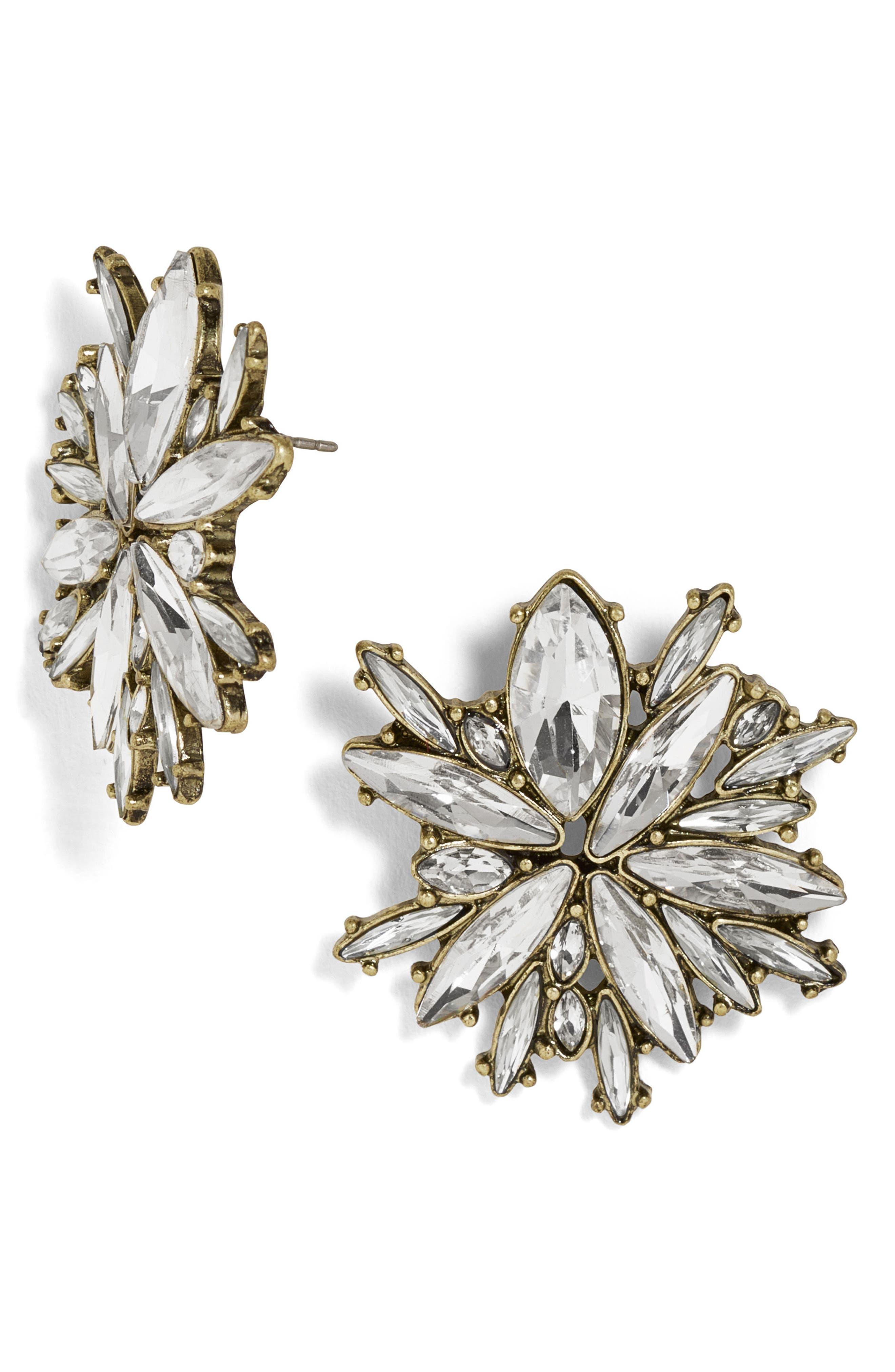 Icicle Crystal Stud Earrings,                             Main thumbnail 1, color,                             040