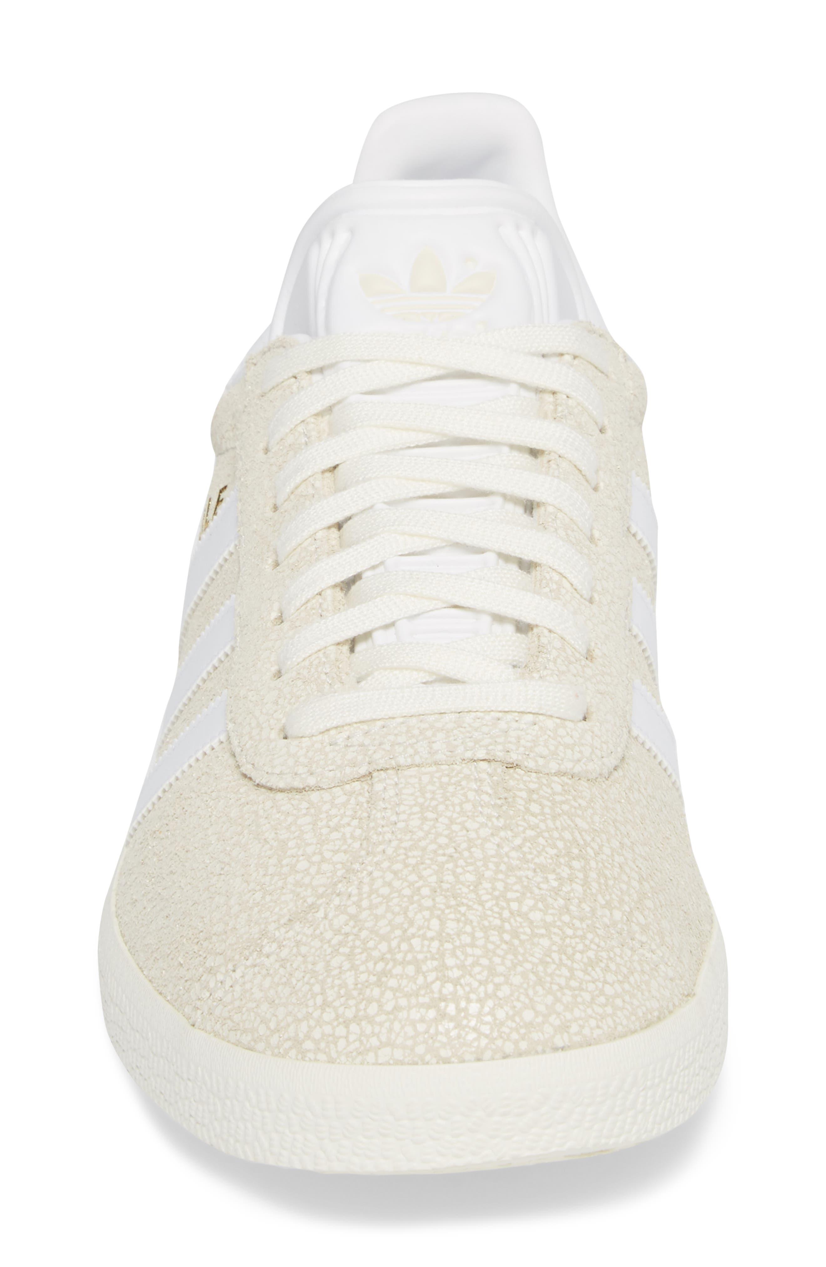 Gazelle Sneaker,                             Alternate thumbnail 4, color,                             OFF WHITE/ WHITE/ OFF WHITE