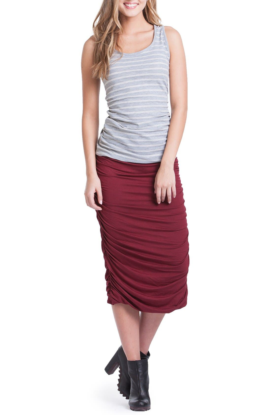 Ruched Maternity Tank,                             Alternate thumbnail 4, color,                             060