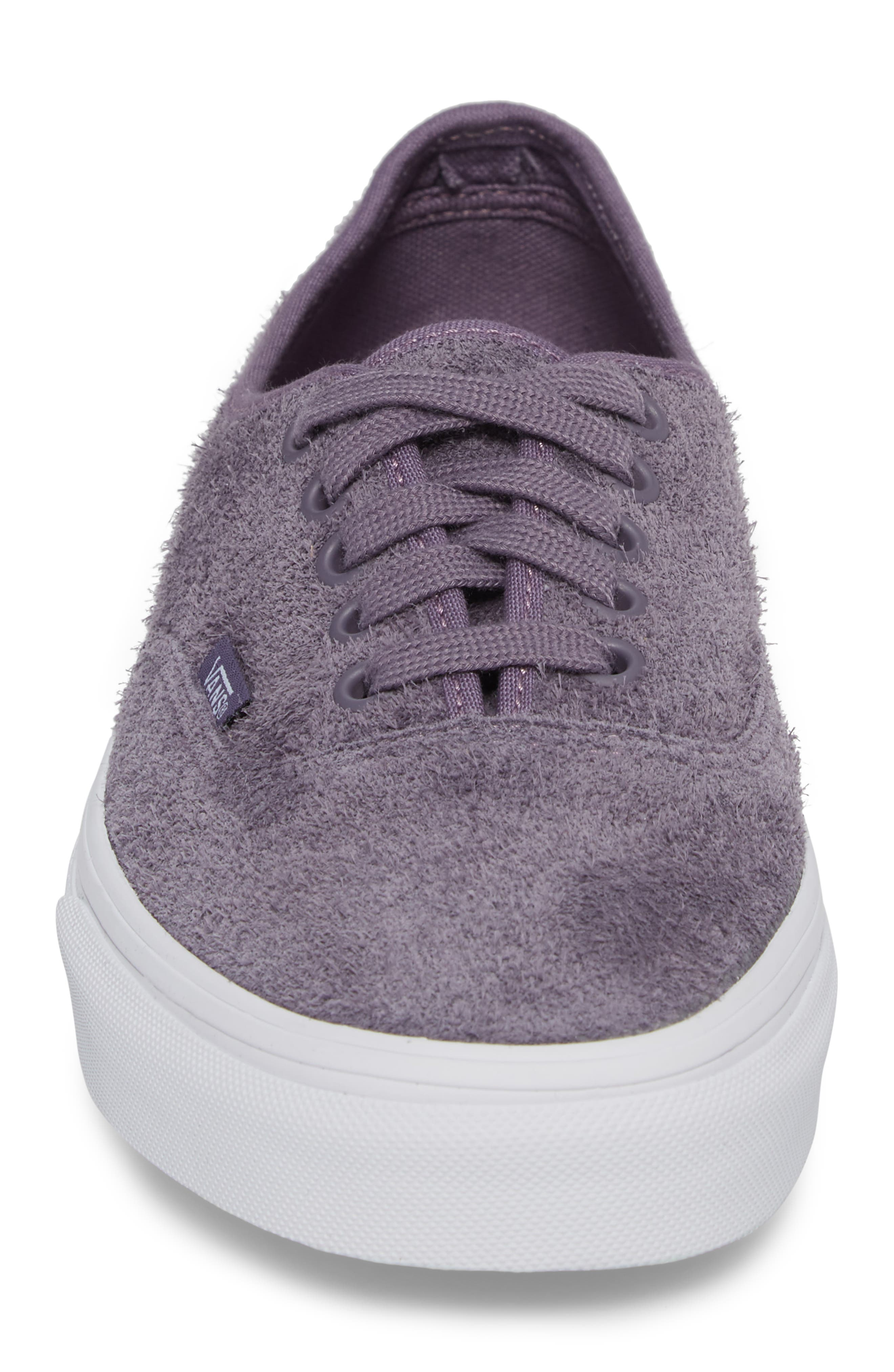 Authentic Hairy Suede Low Top Sneaker,                             Alternate thumbnail 4, color,                             510