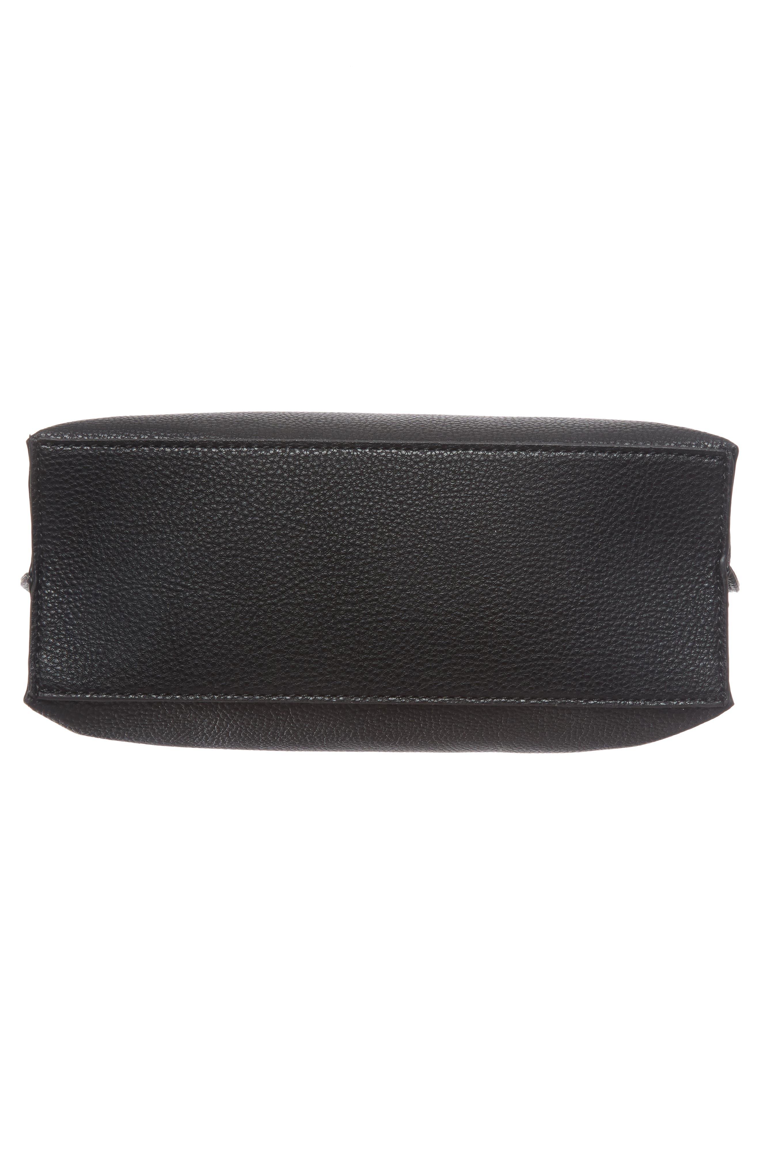 Metal Handle Faux Leather Crossbody Bag,                             Alternate thumbnail 17, color,