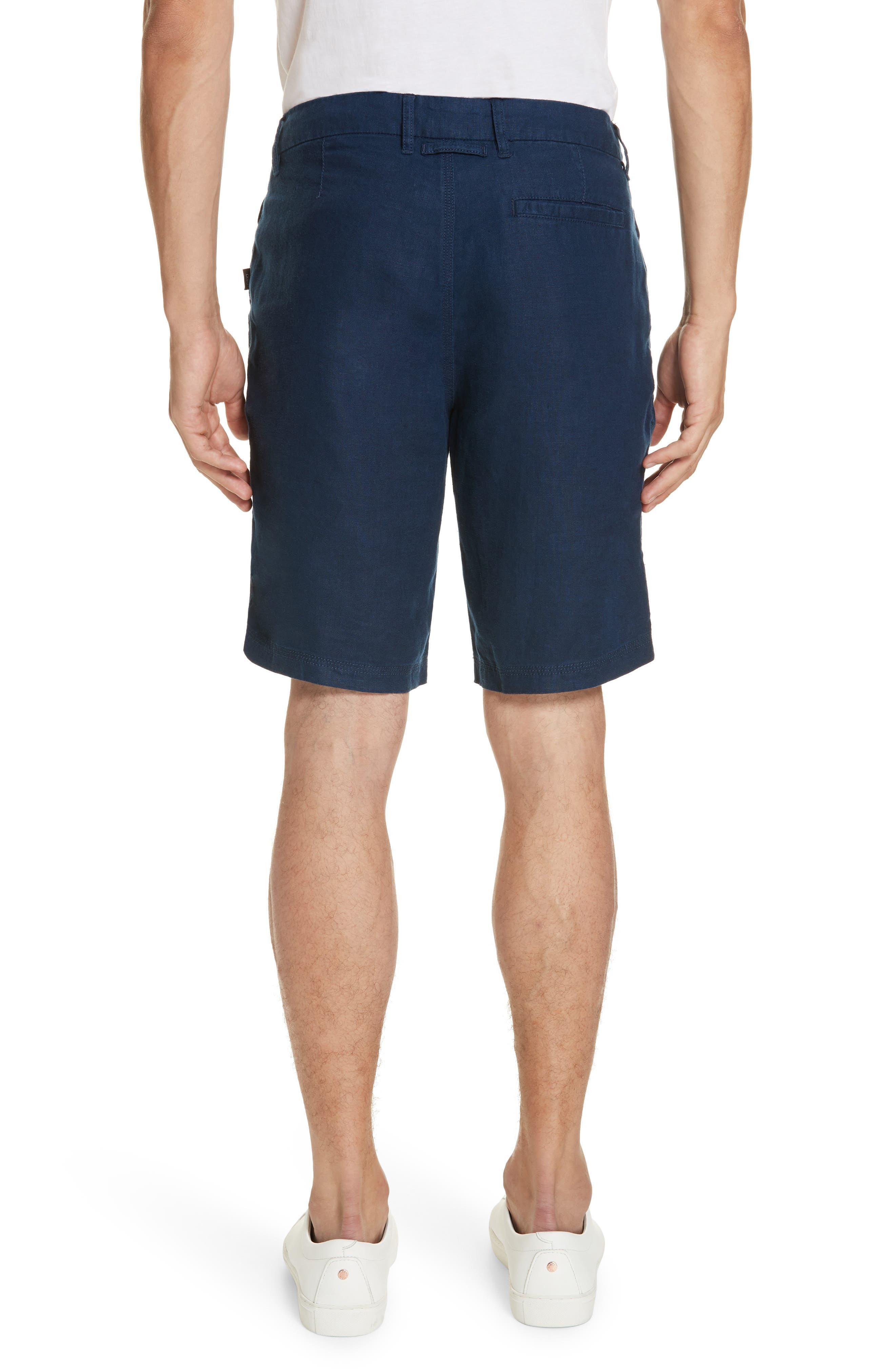 Austin Linen Shorts,                             Alternate thumbnail 2, color,                             DEEP NAVY