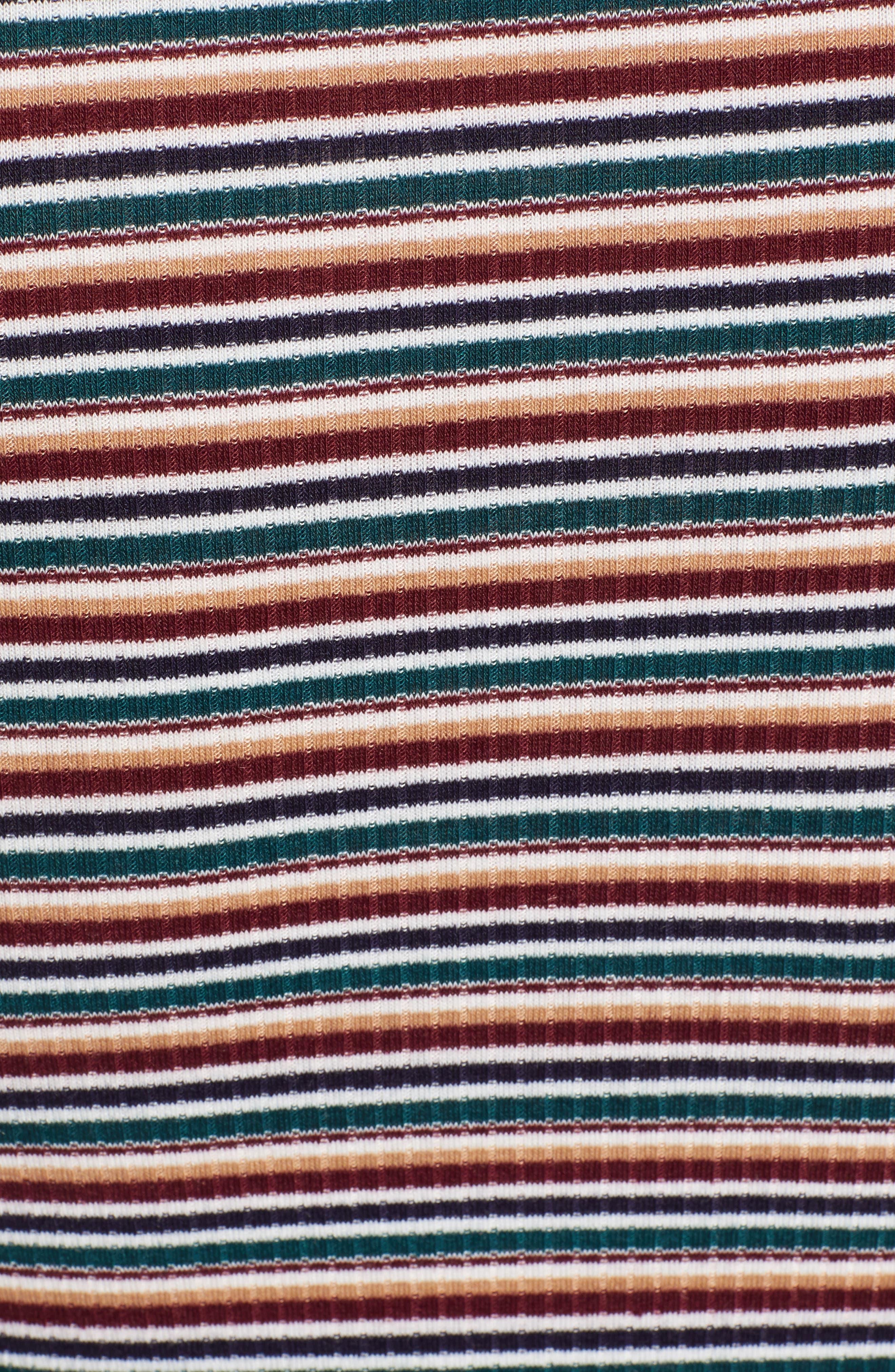 LOVE, FIRE,                             Ruched Stripe Minidress,                             Alternate thumbnail 6, color,                             020