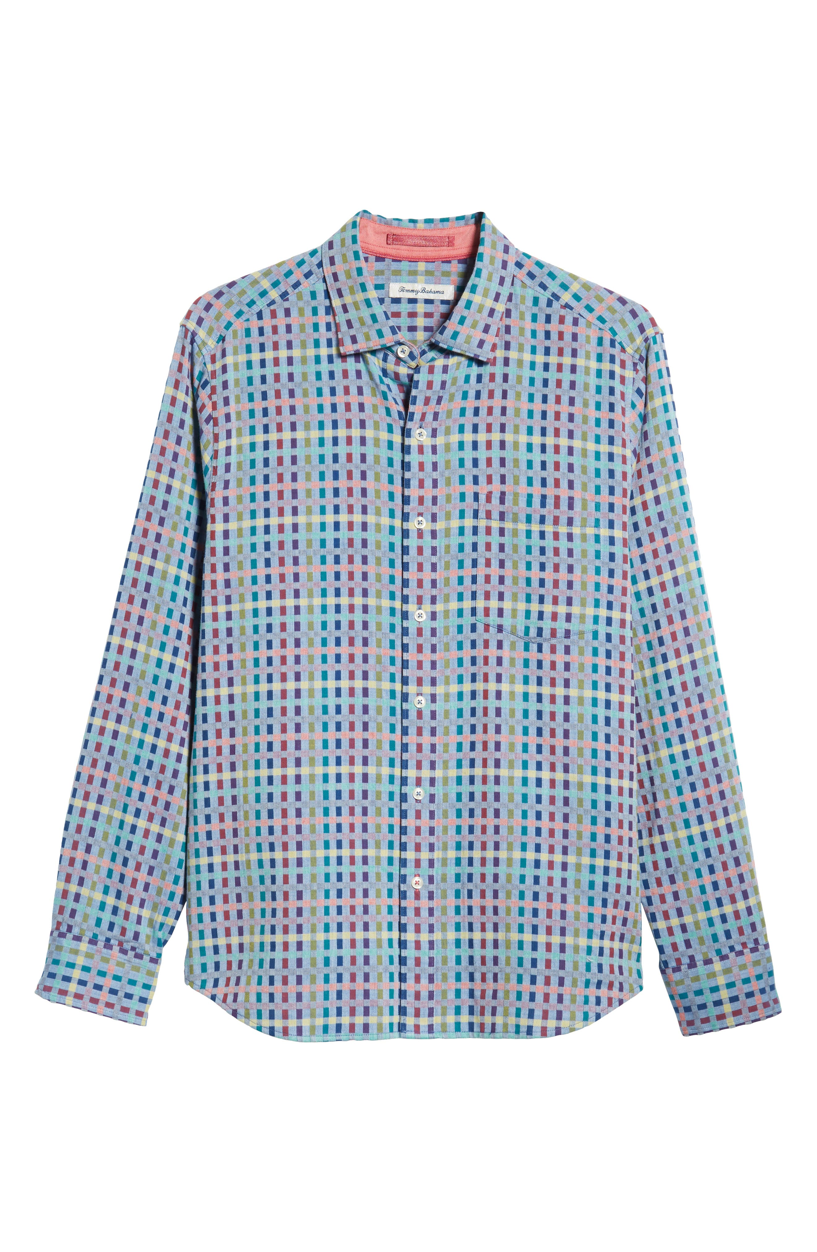 Prism Break Sport Shirt,                             Alternate thumbnail 5, color,                             DARK COBALT
