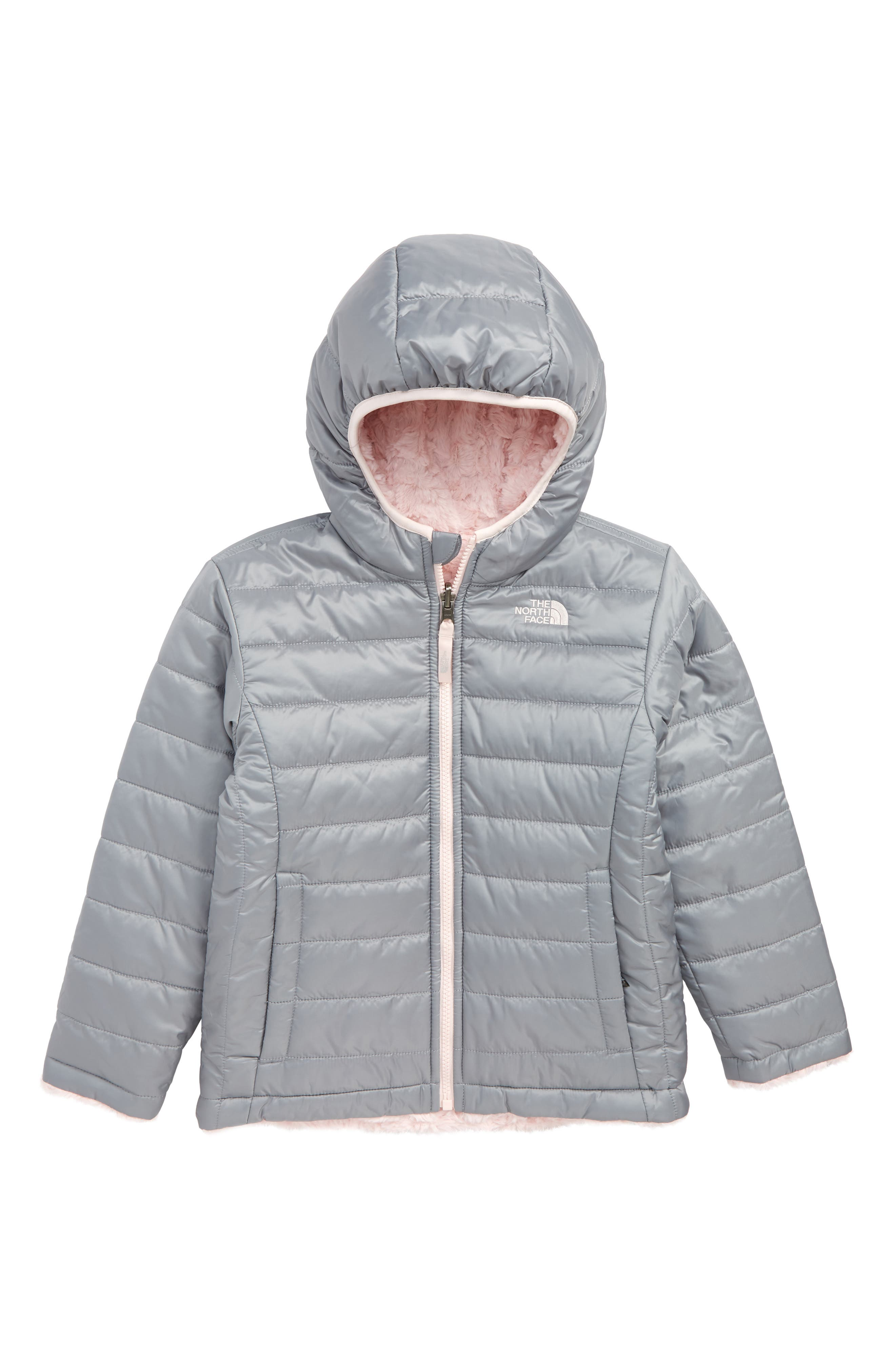 Mossbud Reversible Water Repellent Jacket,                         Main,                         color, MID GREY