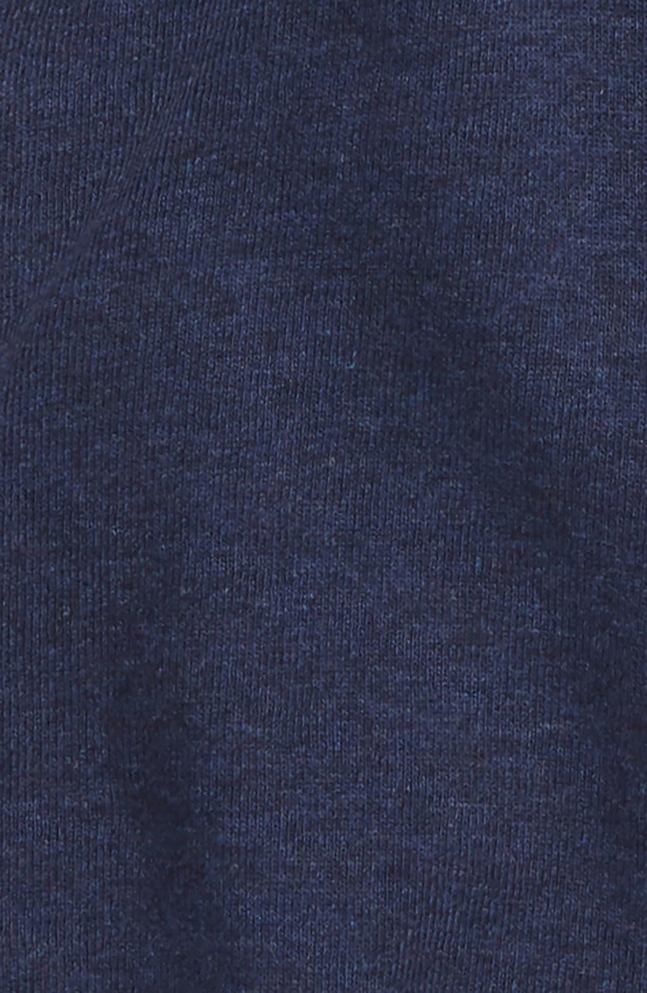 Lucky Surplice Organic Cotton Bodysuit,                             Alternate thumbnail 2, color,                             NAVY HEATHER
