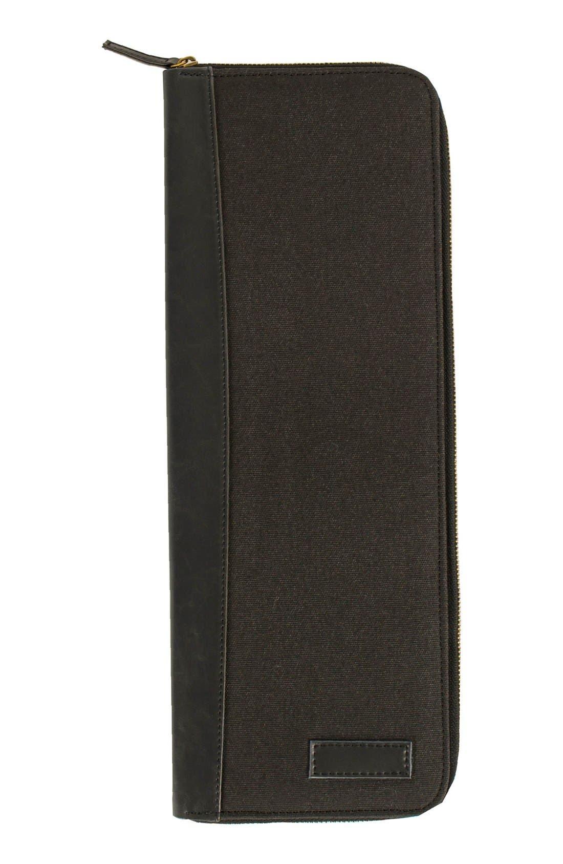 Monogram Tie Case,                             Main thumbnail 1, color,                             BLACK