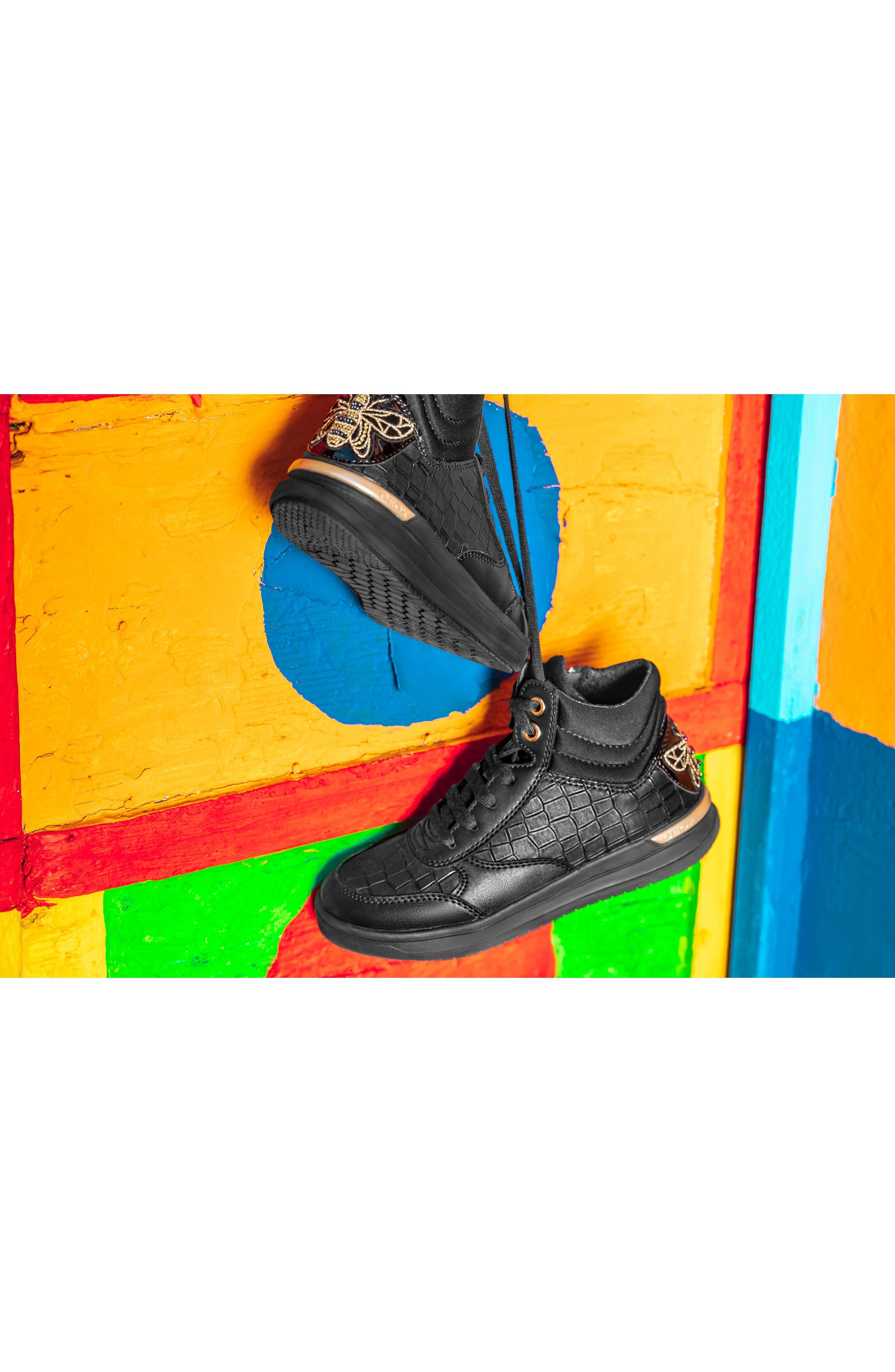 Aveup High Top Sneaker,                             Alternate thumbnail 7, color,                             BLACK