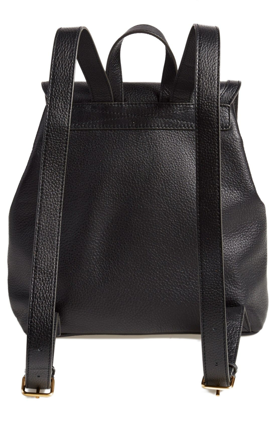 MARC BY MARC JACOBS 'Take Your Marc' Leather Backpack,                             Alternate thumbnail 3, color,                             001