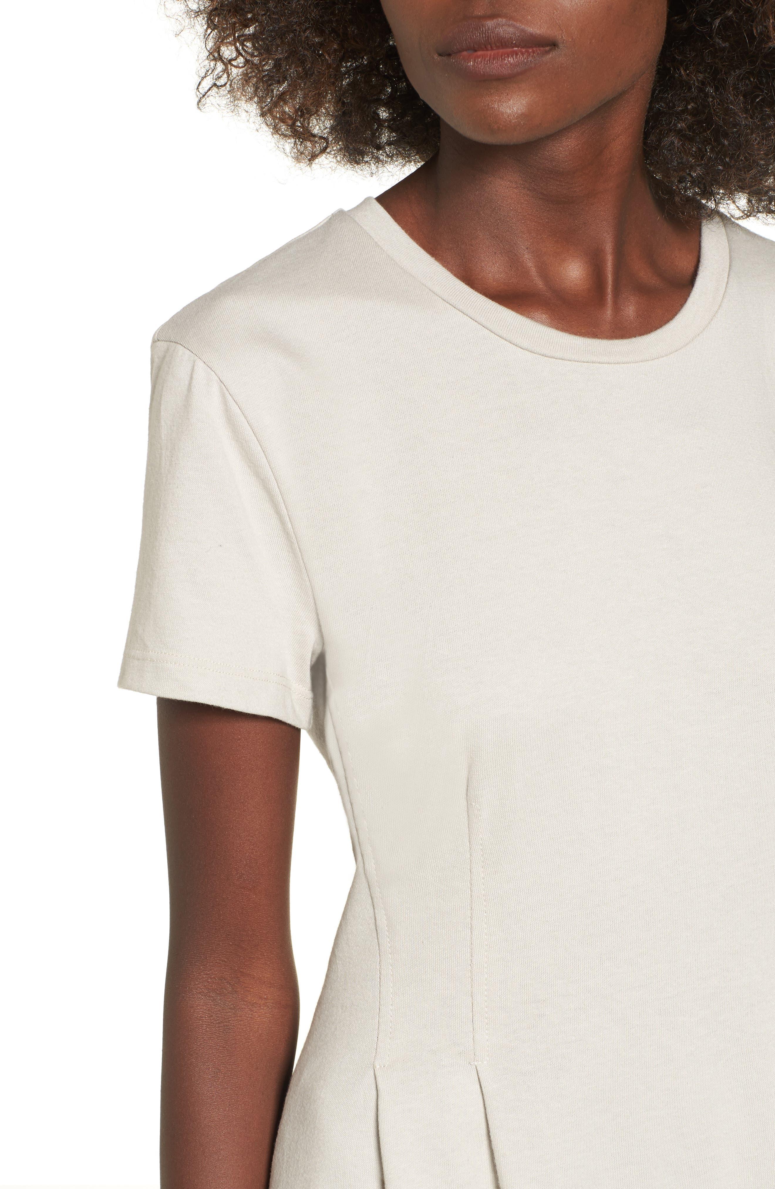 Cotton T-Shirt Dress,                             Alternate thumbnail 8, color,