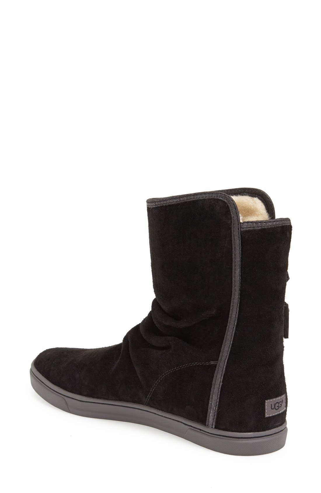 Australia 'Becky' Water Resistant Suede Boot,                             Alternate thumbnail 3, color,                             001