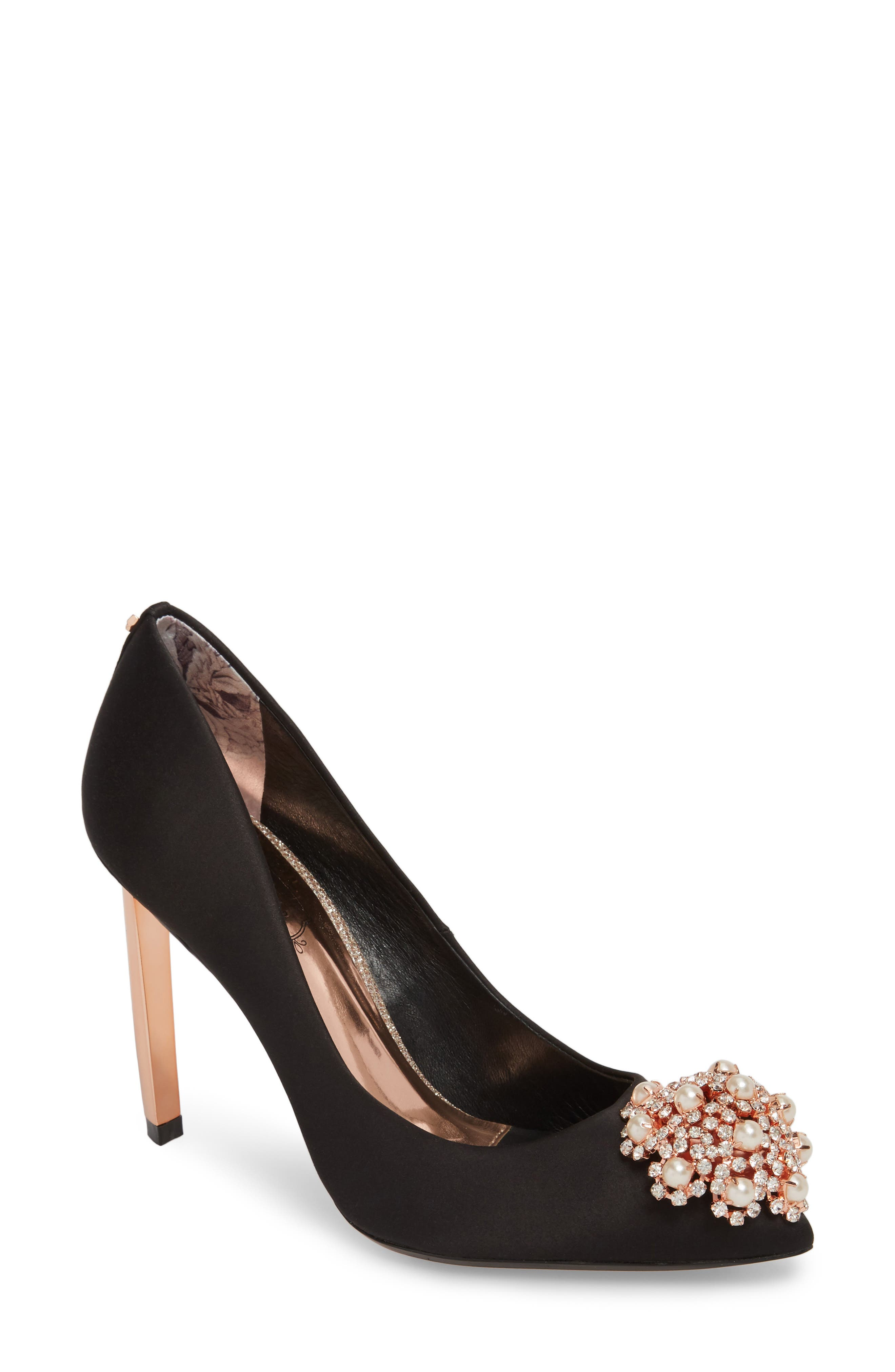 Peetch 2 Pump,                         Main,                         color, BLACK SATIN