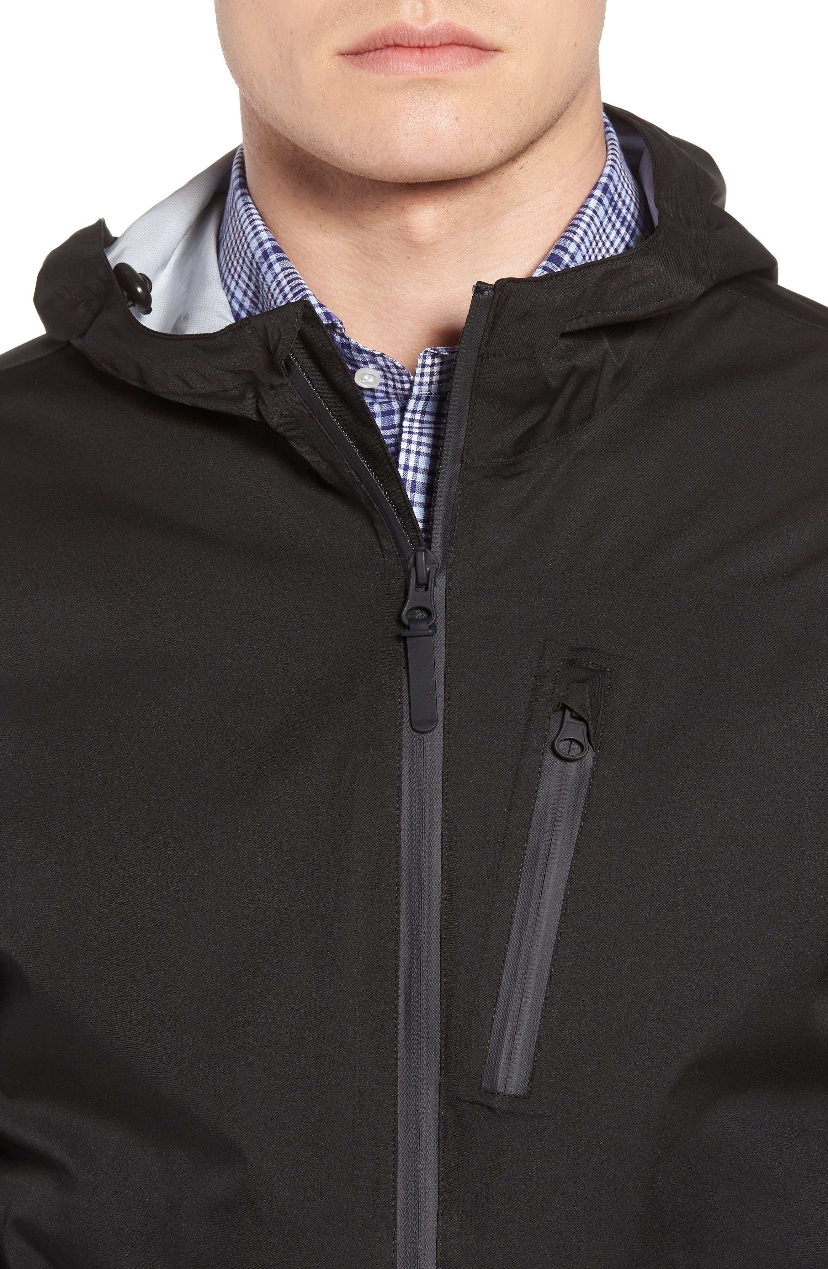 Packable Water Resistant Jacket,                             Alternate thumbnail 4, color,                             BLACK