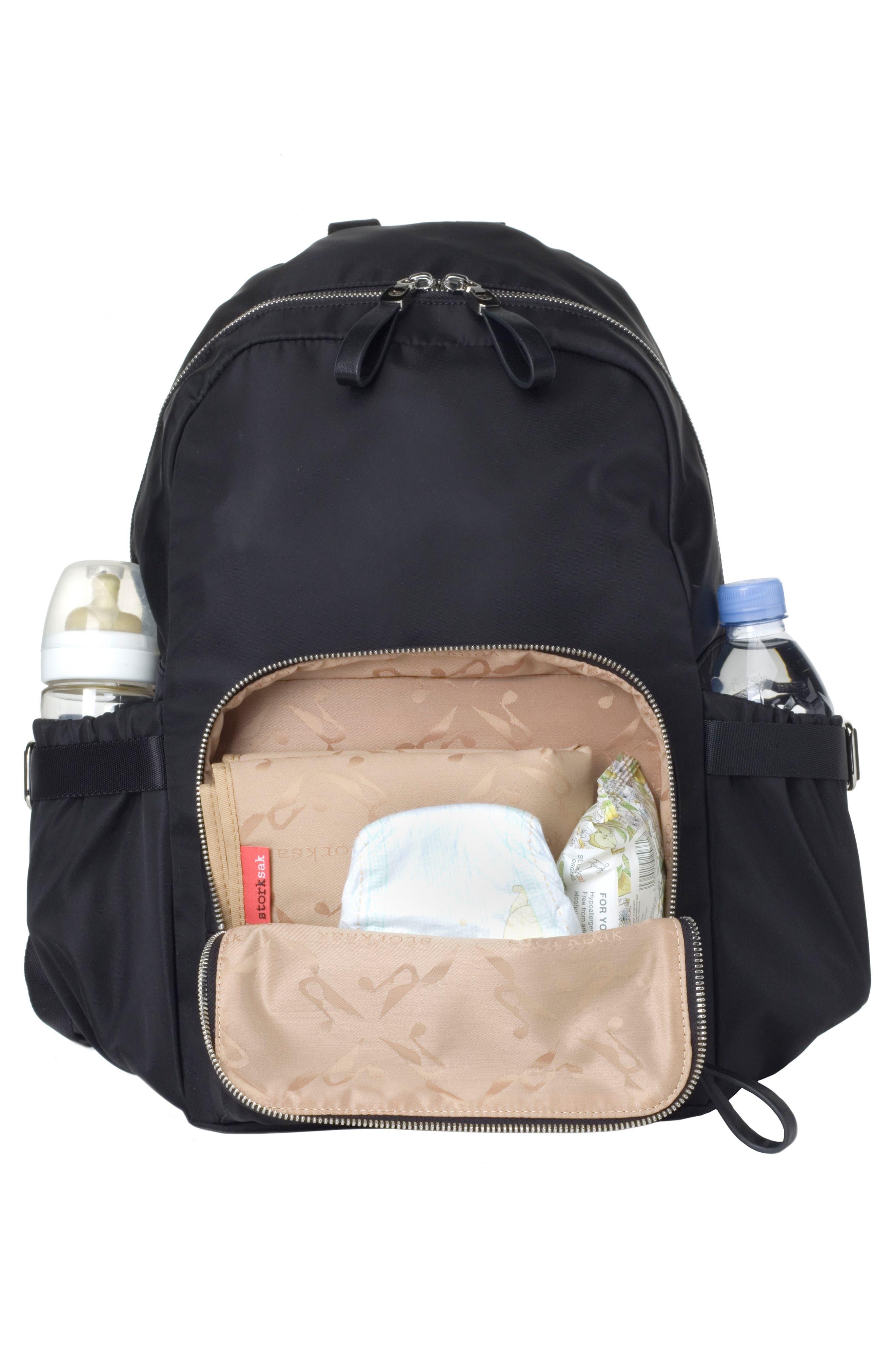 Hero Water Resistant Nylon Backpack Diaper Bag,                             Alternate thumbnail 2, color,                             BLACK