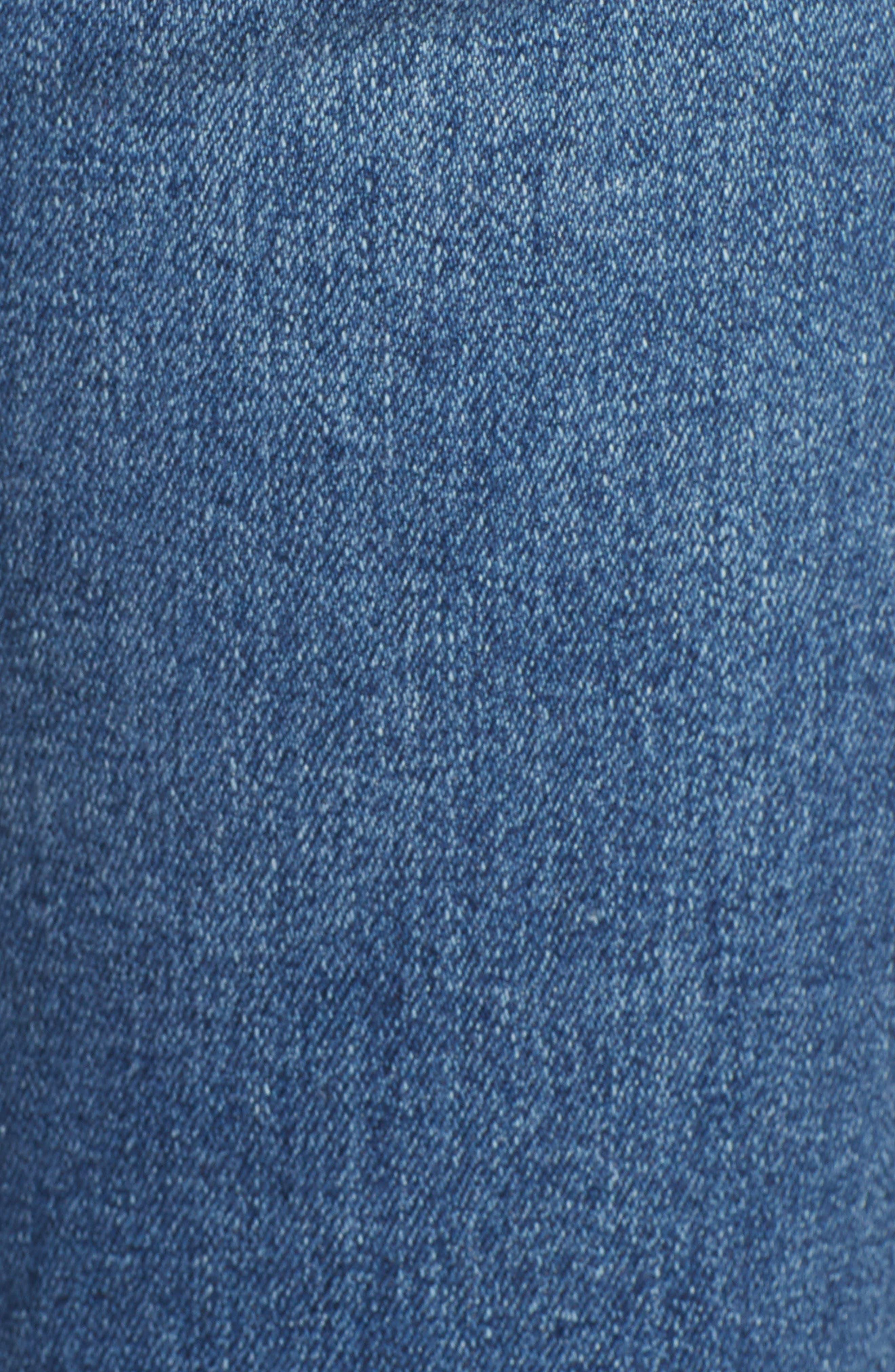 Jodi Crop Fringe Jeans,                             Alternate thumbnail 6, color,                             PASTORAL PLAINS