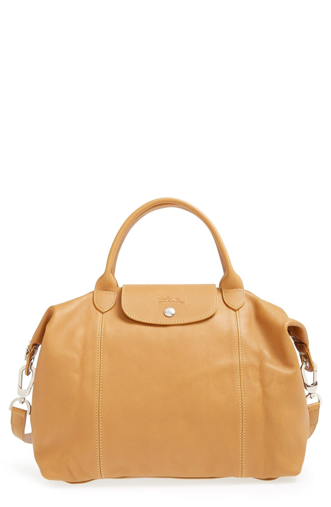 Medium 'Le Pliage Cuir' Leather Top Handle Tote,                             Main thumbnail 7, color,