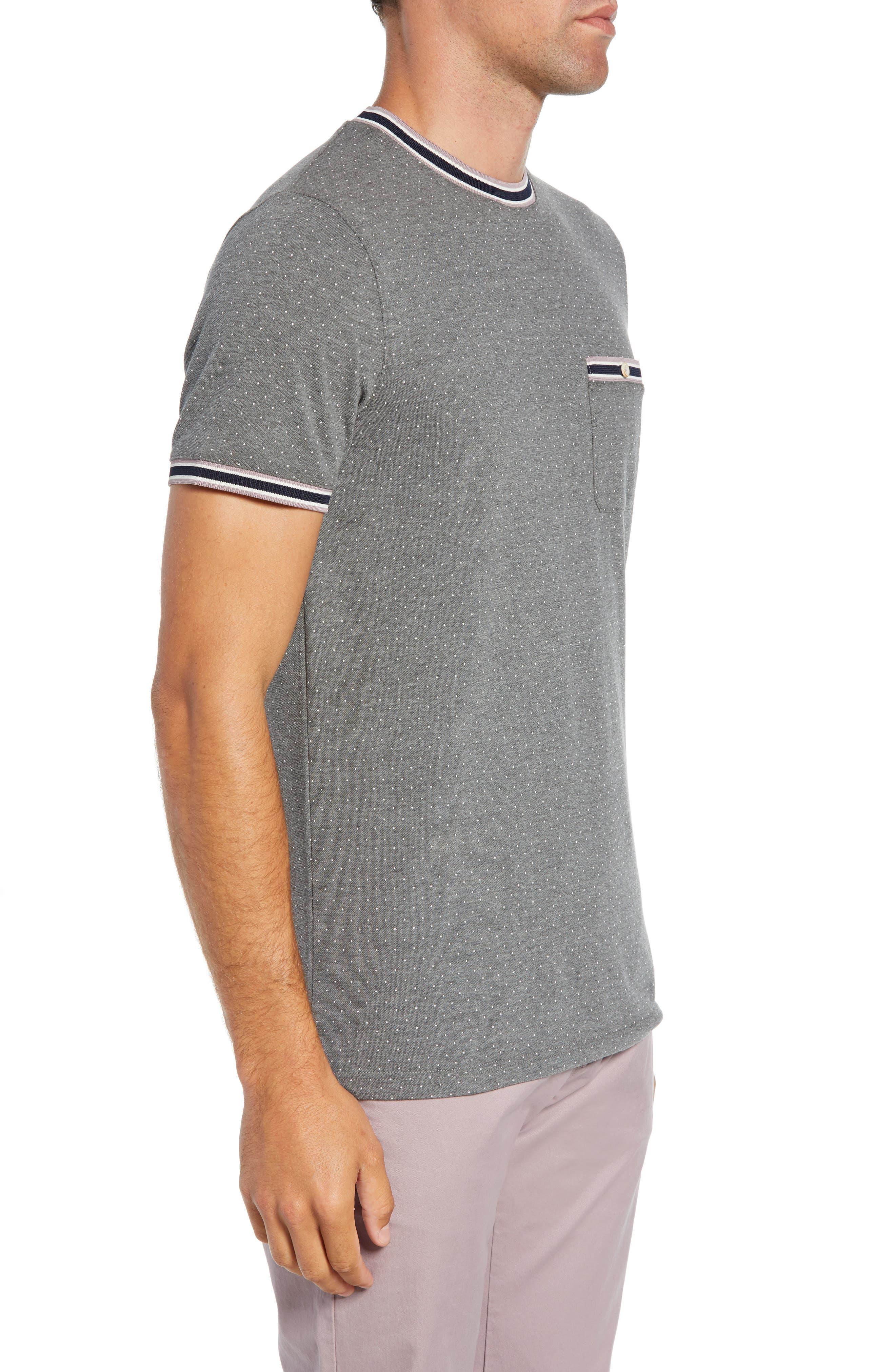 Glaad Trim Fit Mini Spot T-Shirt,                             Alternate thumbnail 3, color,                             GREY MARL