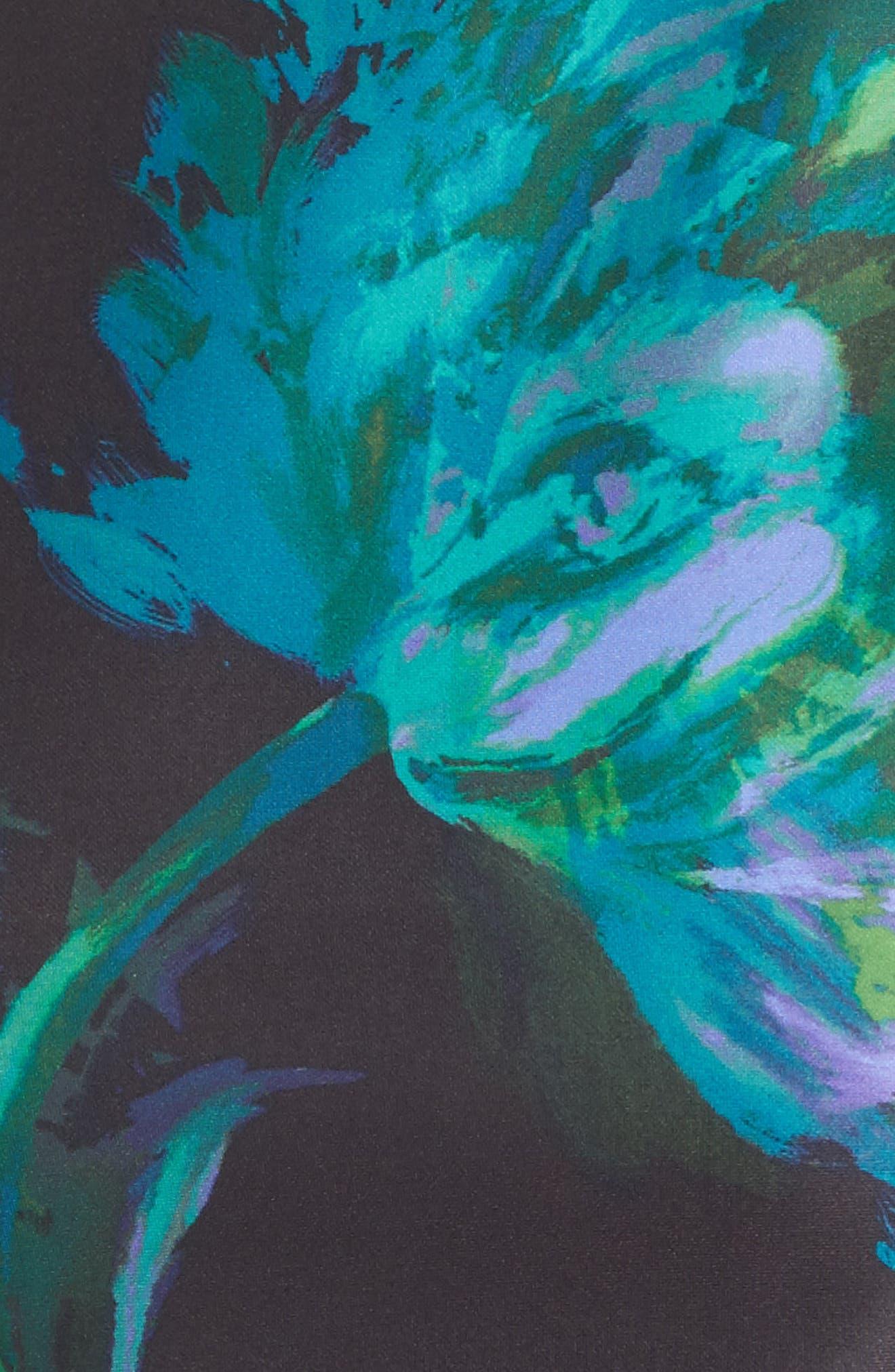Floral Print Shift Dress,                             Alternate thumbnail 5, color,                             440
