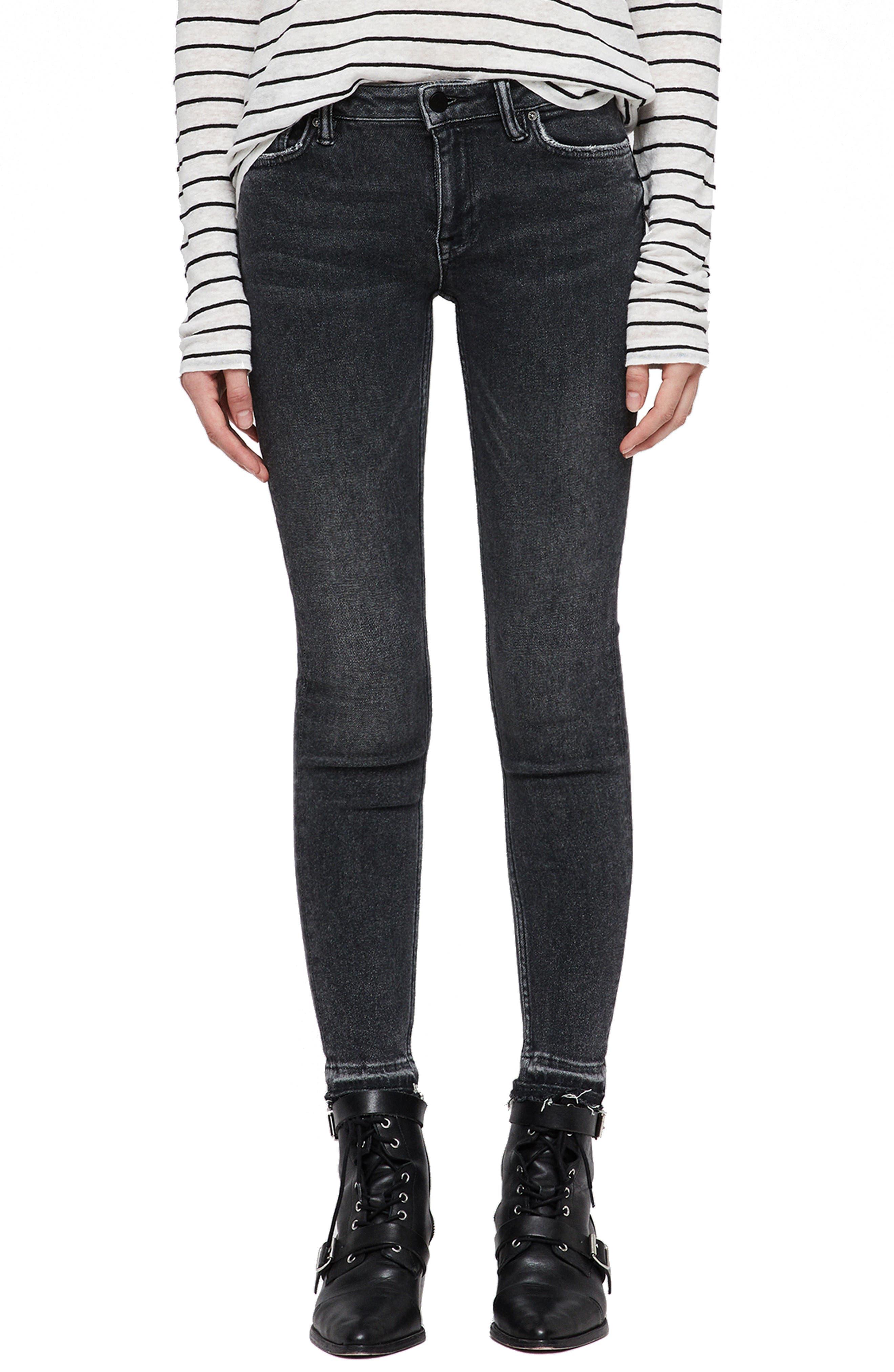 Mast Ankle Skinny Jeans,                         Main,                         color, WASHED BLACK