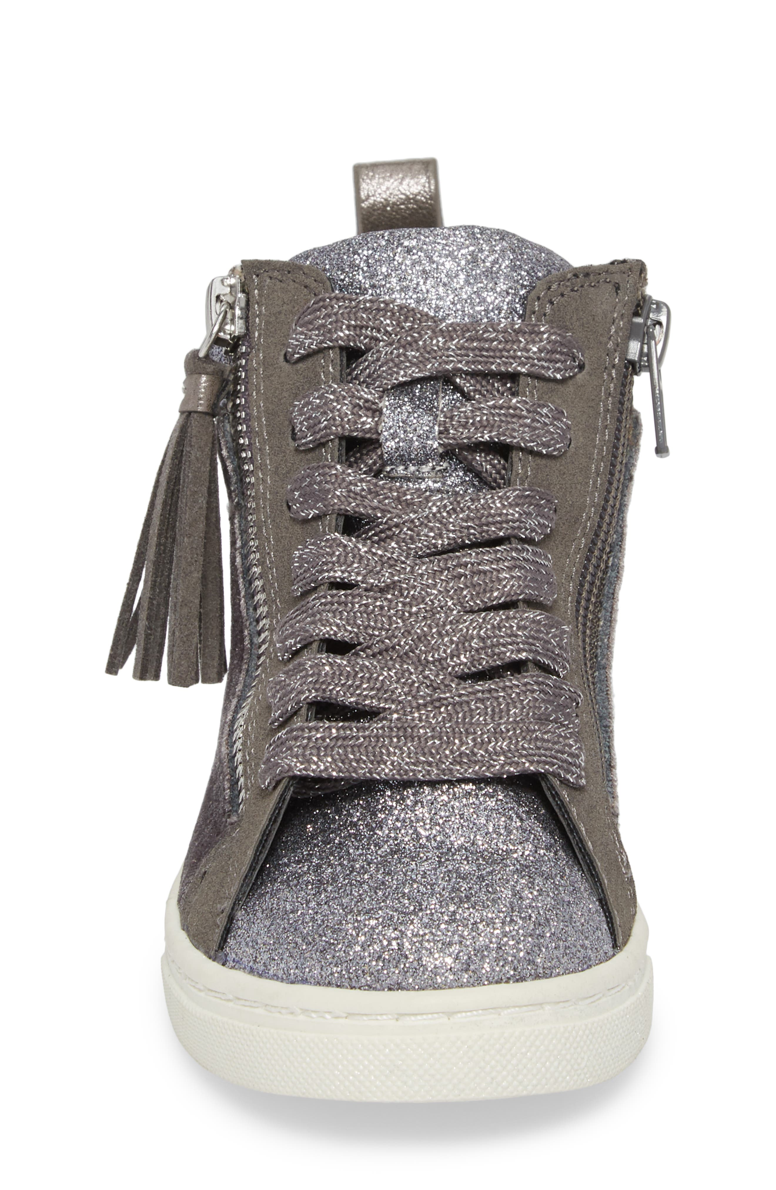 DOLCE VITA,                             Zaila Glitter High Top Sneaker,                             Alternate thumbnail 4, color,                             034