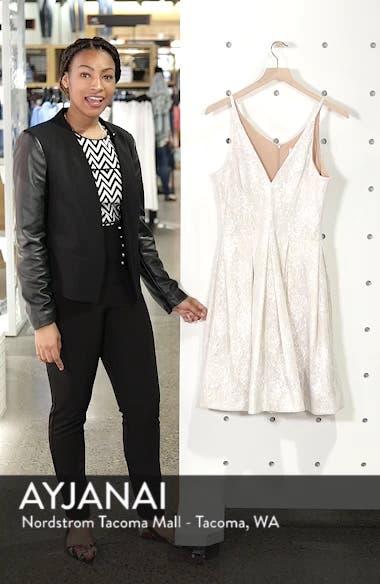 Collette Sequin Fit & Flare Dress, sales video thumbnail