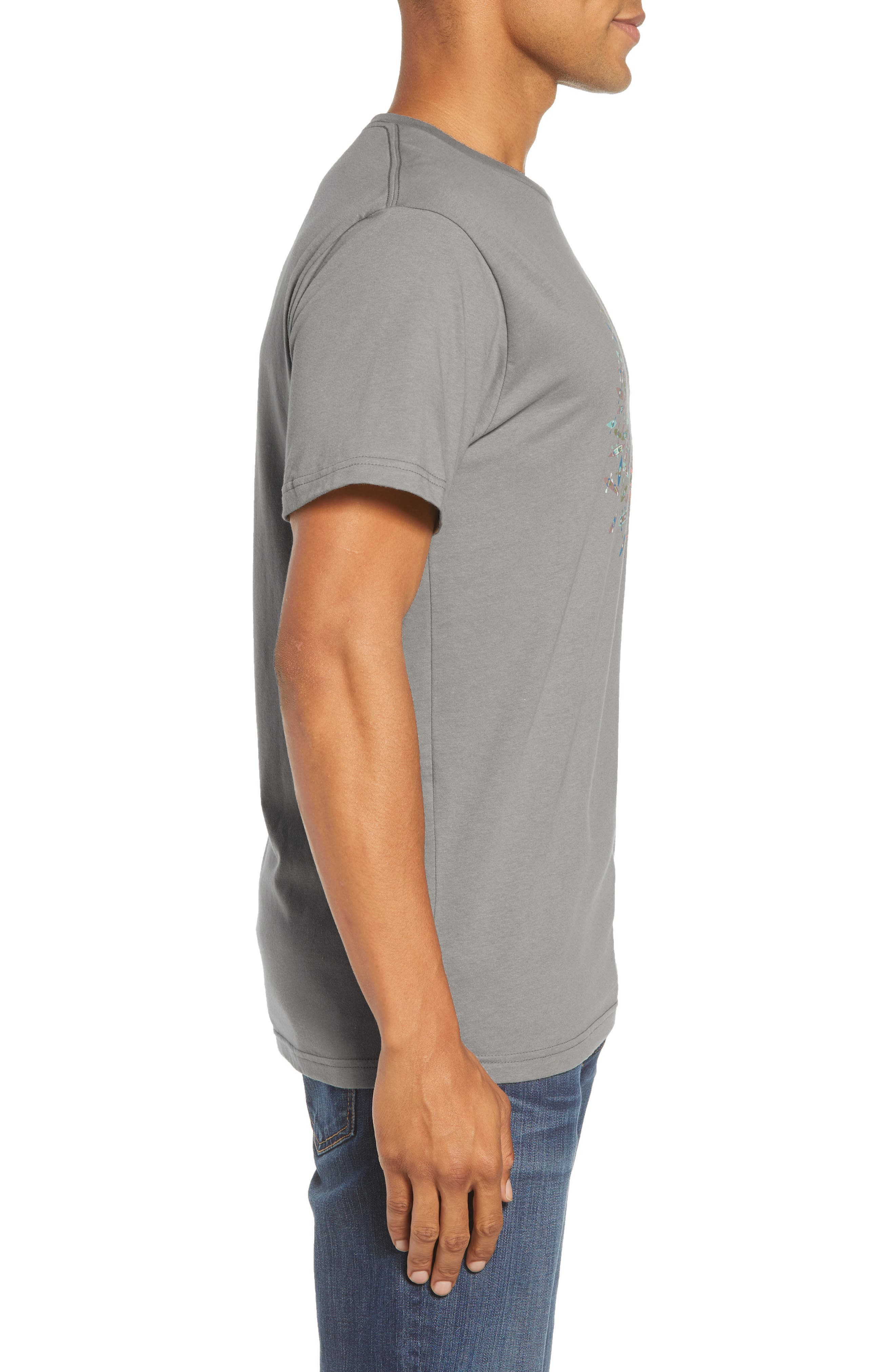 Save Our Rivers Organic Cotton Graphic T-Shirt,                             Alternate thumbnail 3, color,                             FEATHER GREY