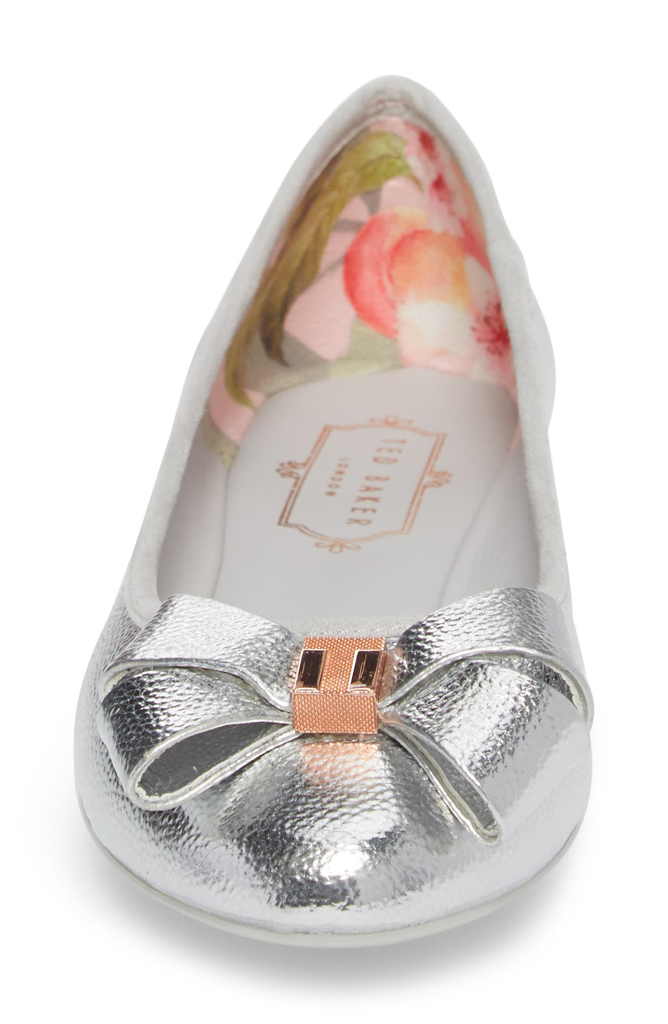 Immet Ballet Flat,                             Alternate thumbnail 4, color,                             SILVER