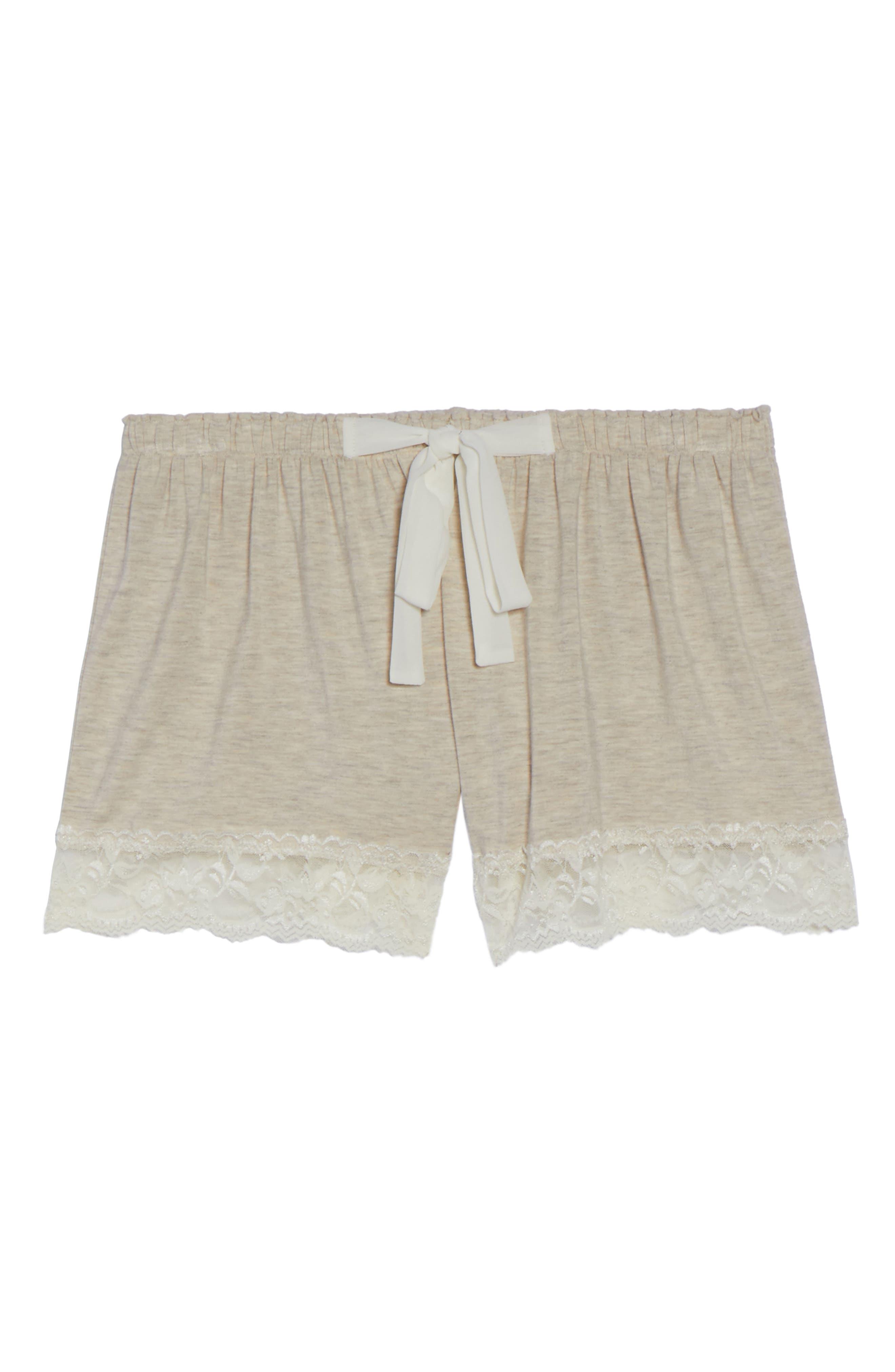Flora Nikrooz Snuggle Lounge Shorts,                             Alternate thumbnail 6, color,                             OATMEAL