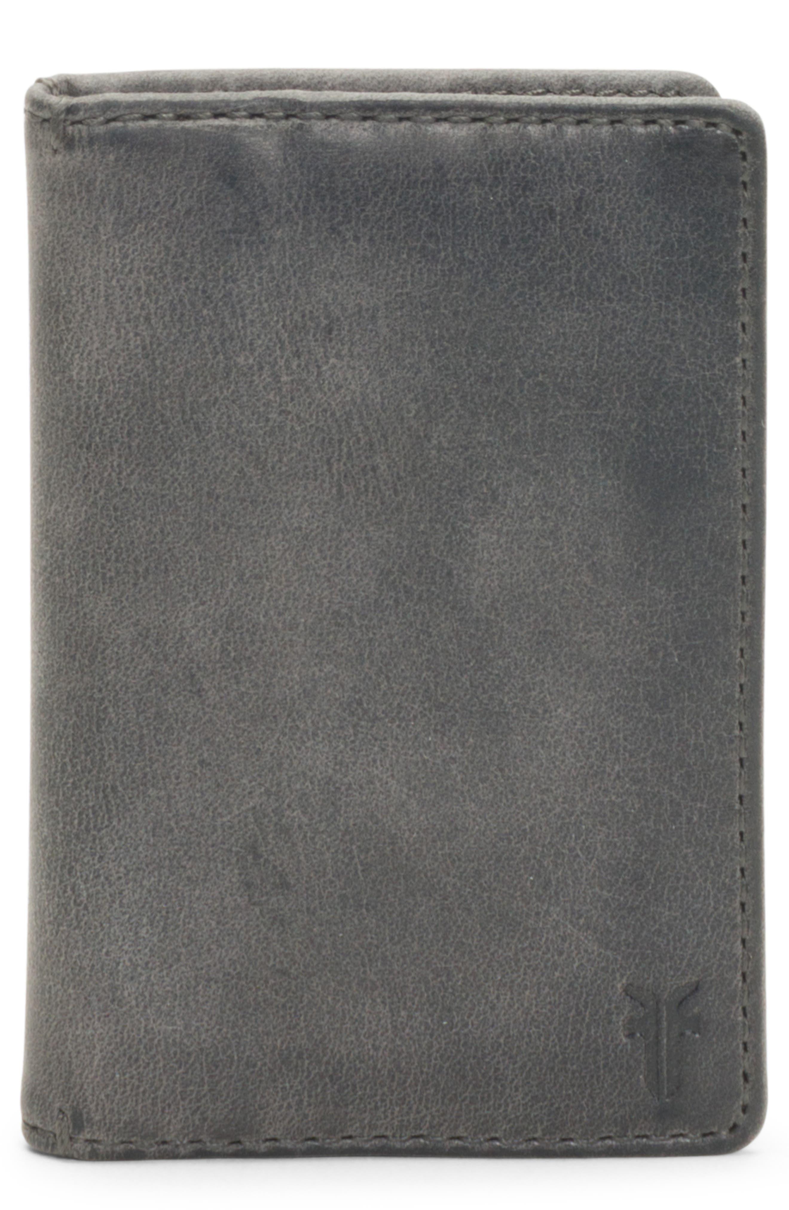Oliver Leather Wallet,                         Main,                         color, SLATE
