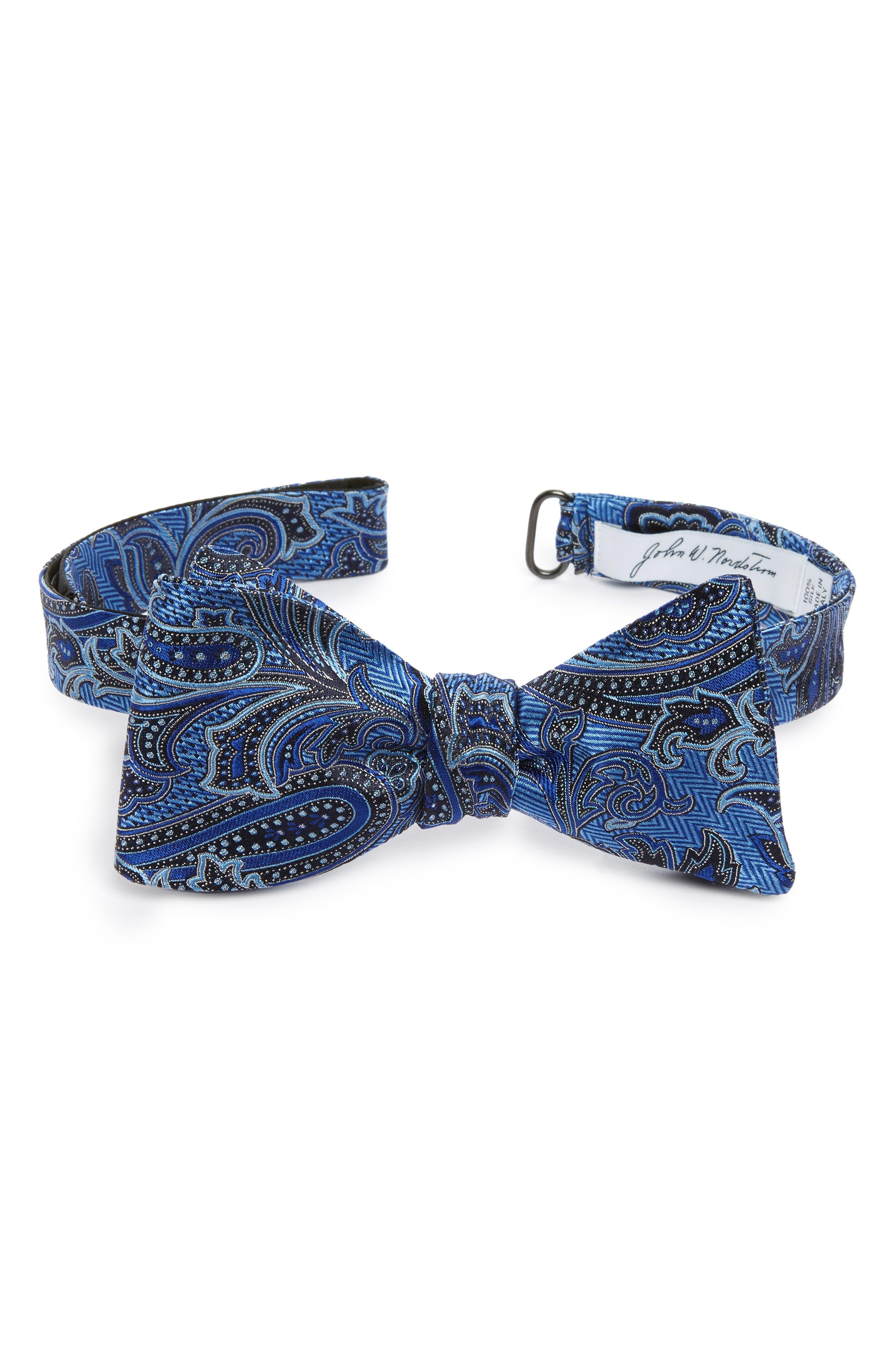 Paisley Silk Bow Tie,                             Main thumbnail 1, color,                             400