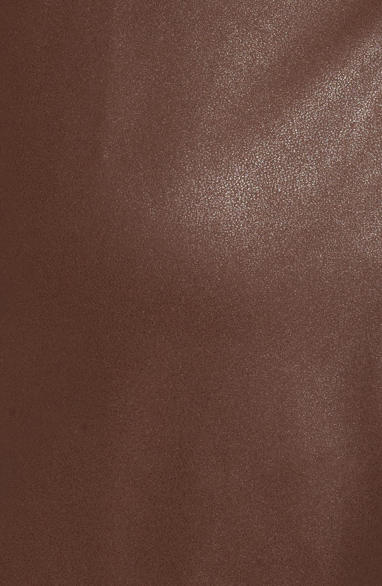 Faux Leather Shift Dress,                             Alternate thumbnail 5, color,                             230