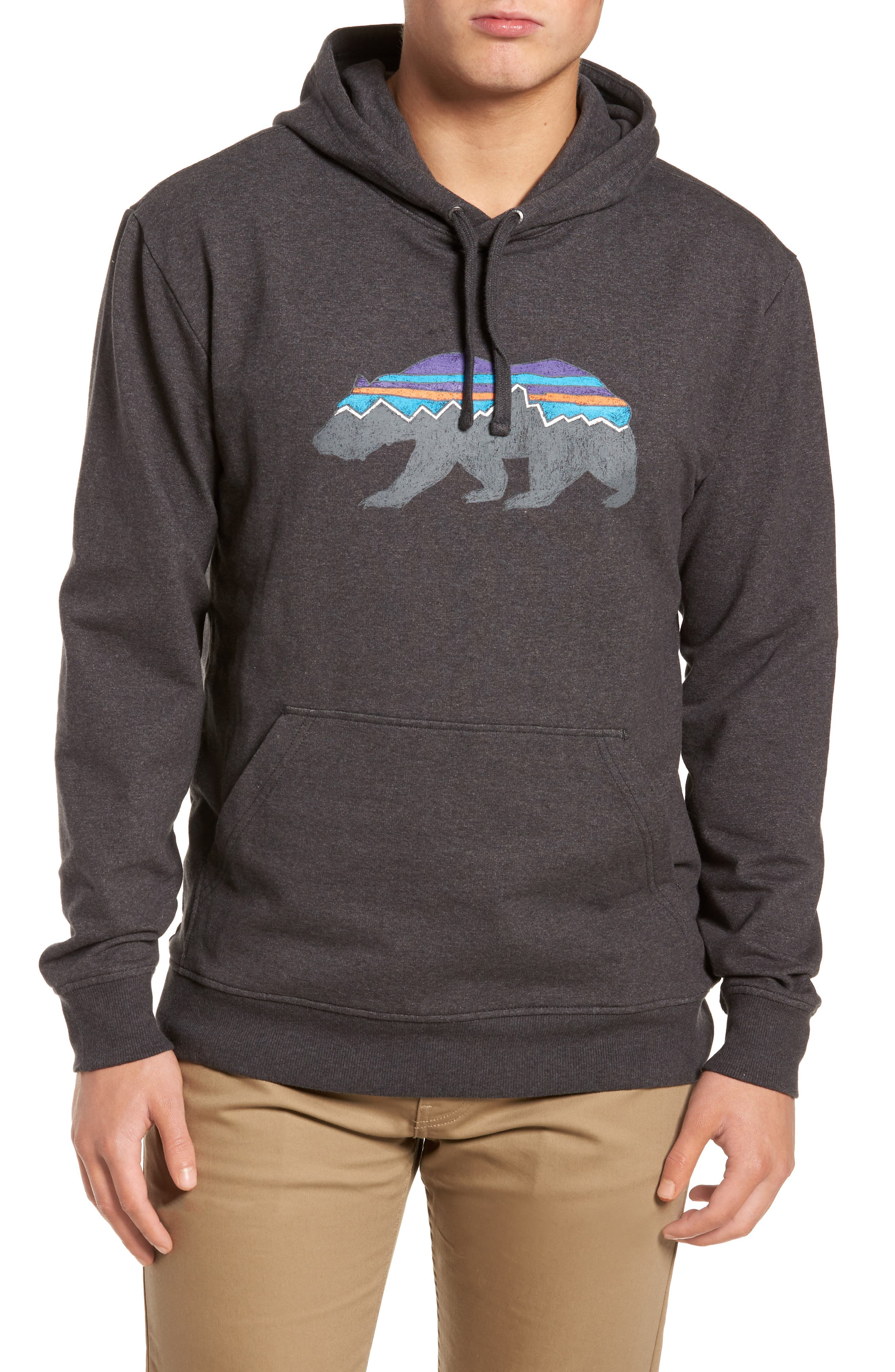 Fitz Roy Bear Graphic Hoodie,                         Main,                         color, 001