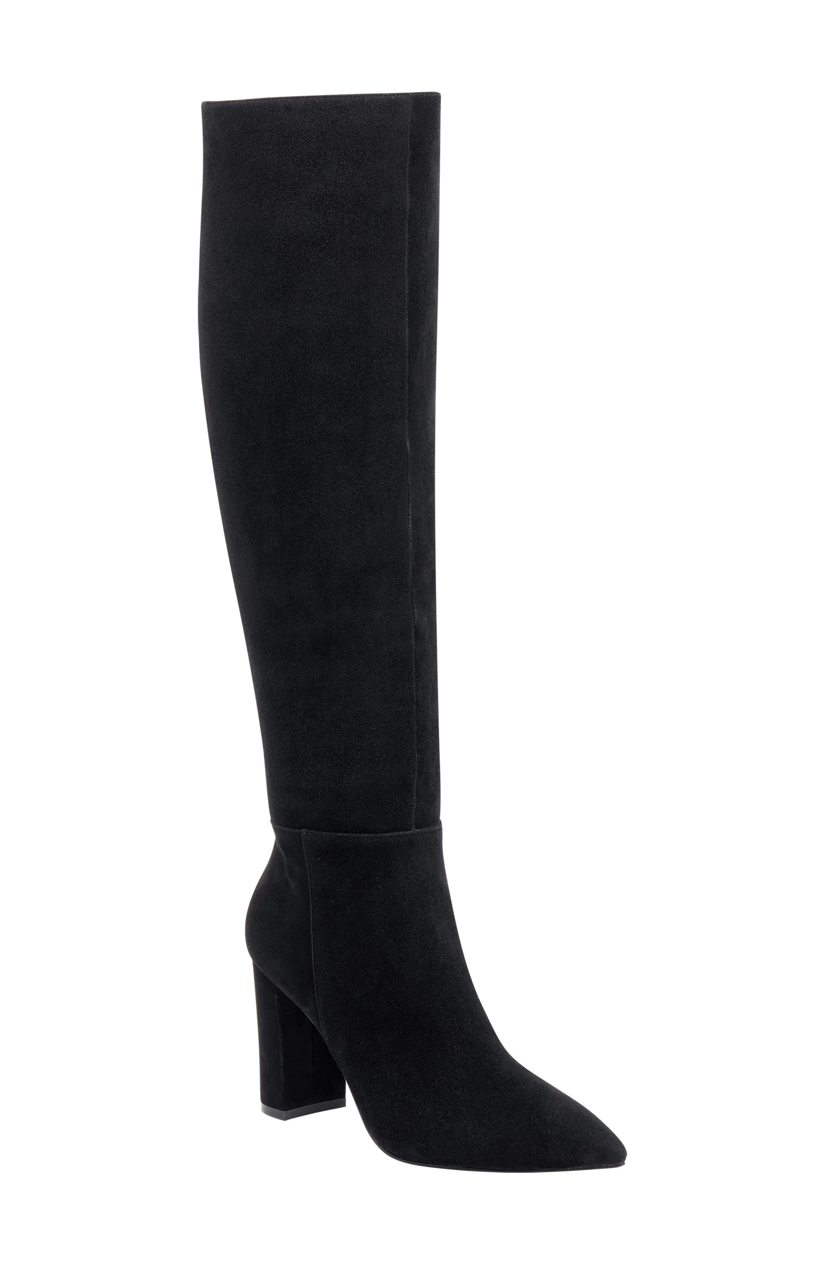 Ulana Knee High Boot,                             Main thumbnail 1, color,                             BLACK SUEDE