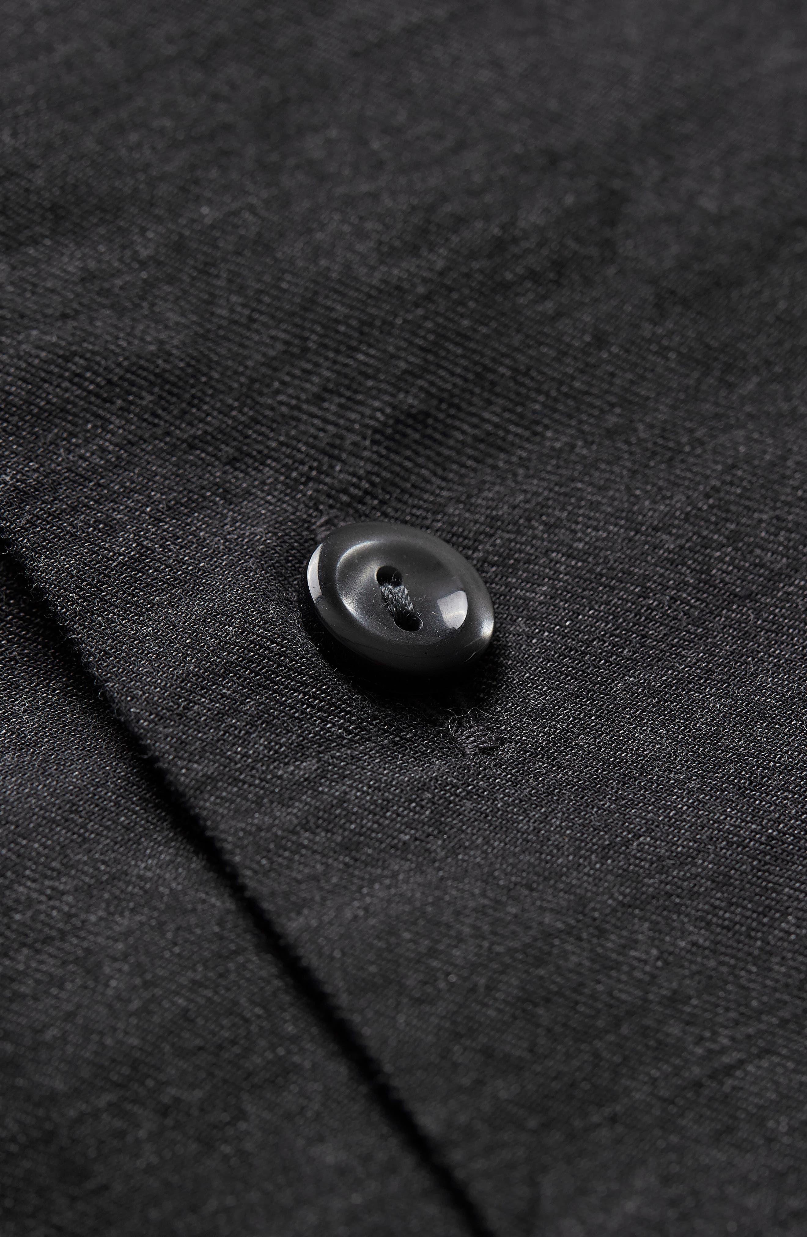 ETON,                             Slim Fit Solid Dress Shirt,                             Alternate thumbnail 3, color,                             001
