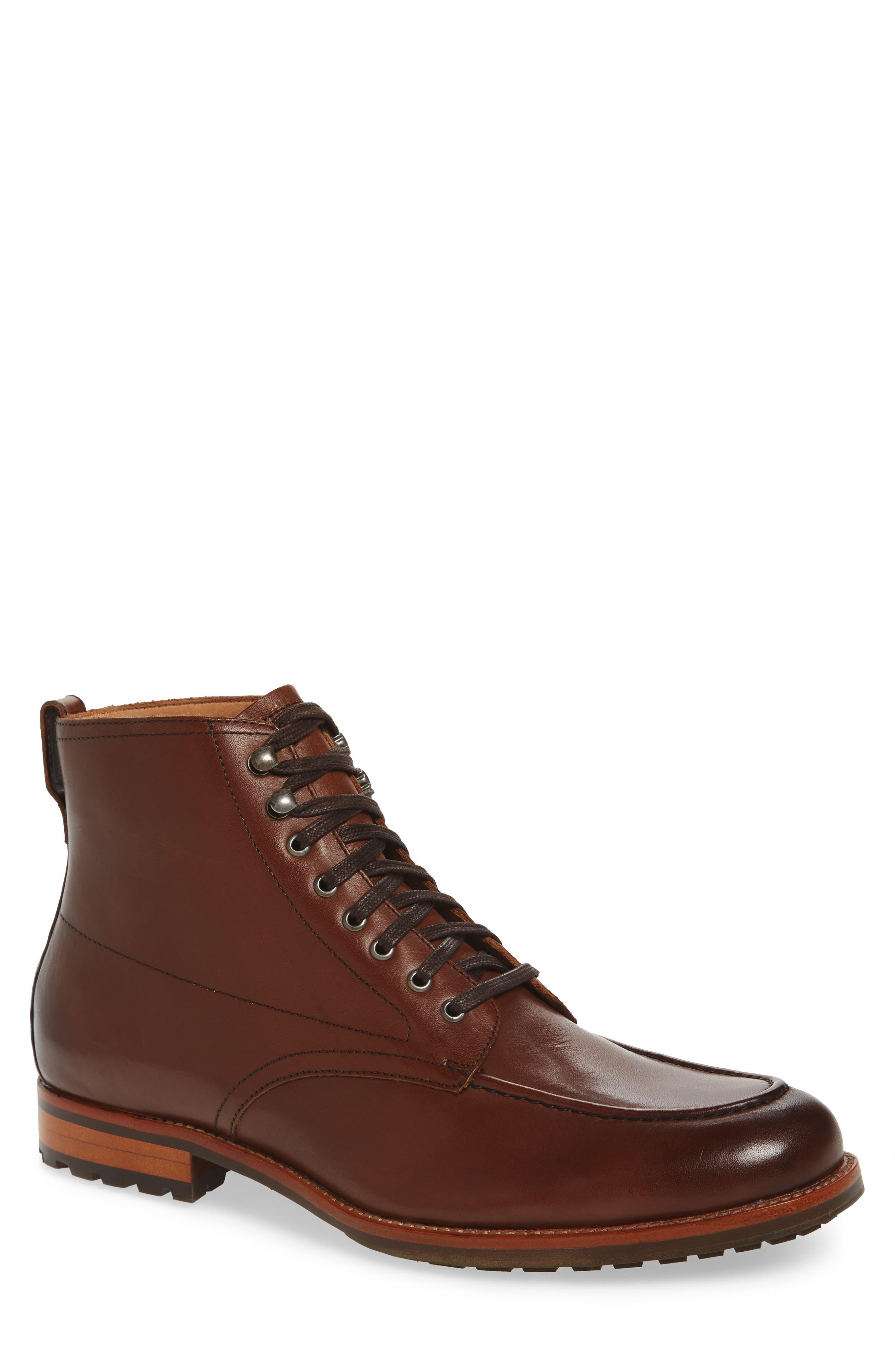 Alamanca Apron Toe Boot, Main, color, 200