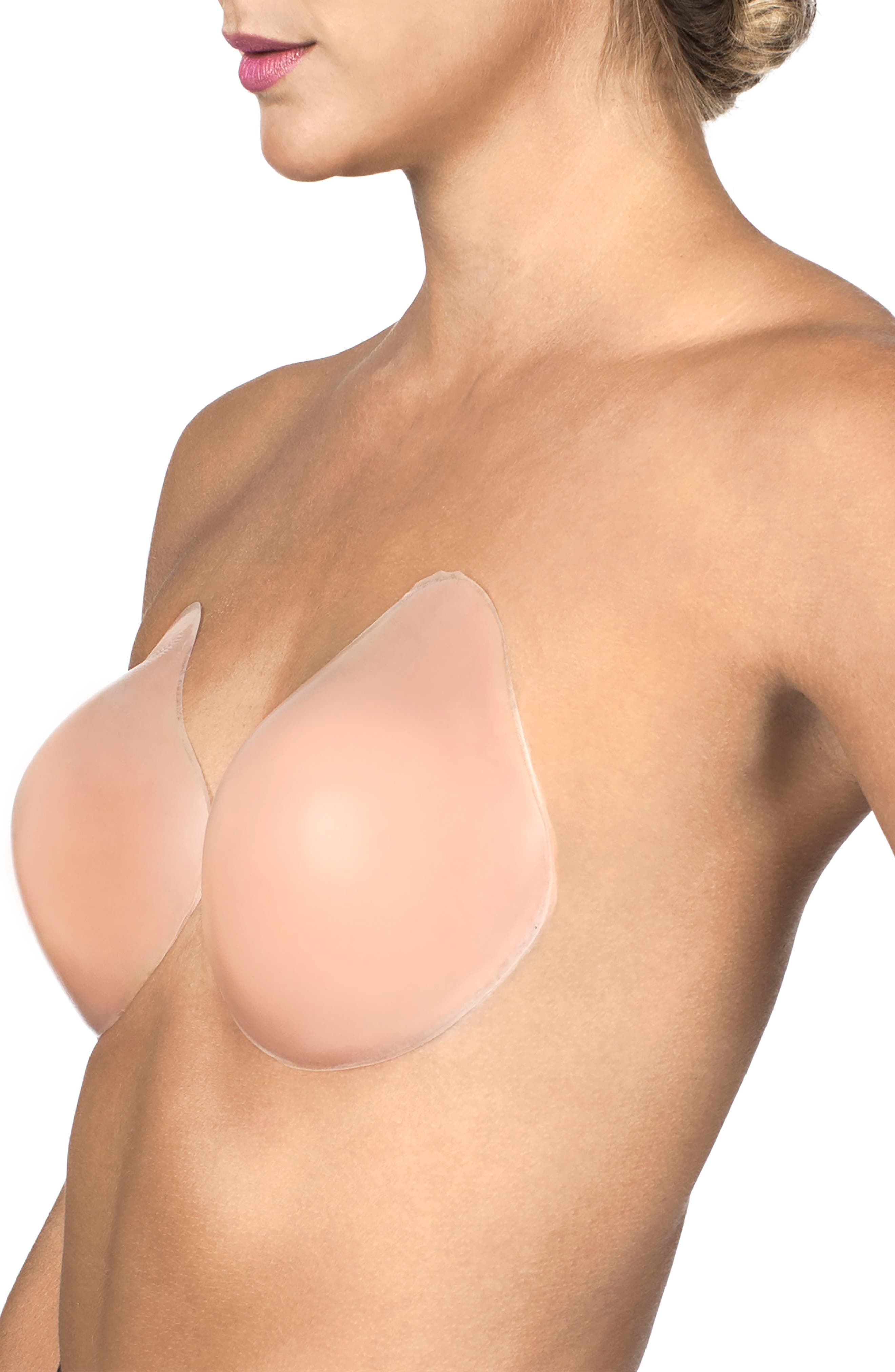 NORDSTROM LINGERIE,                             Lift It Up Adhesive Silicone Bra,                             Alternate thumbnail 3, color,                             NUDE
