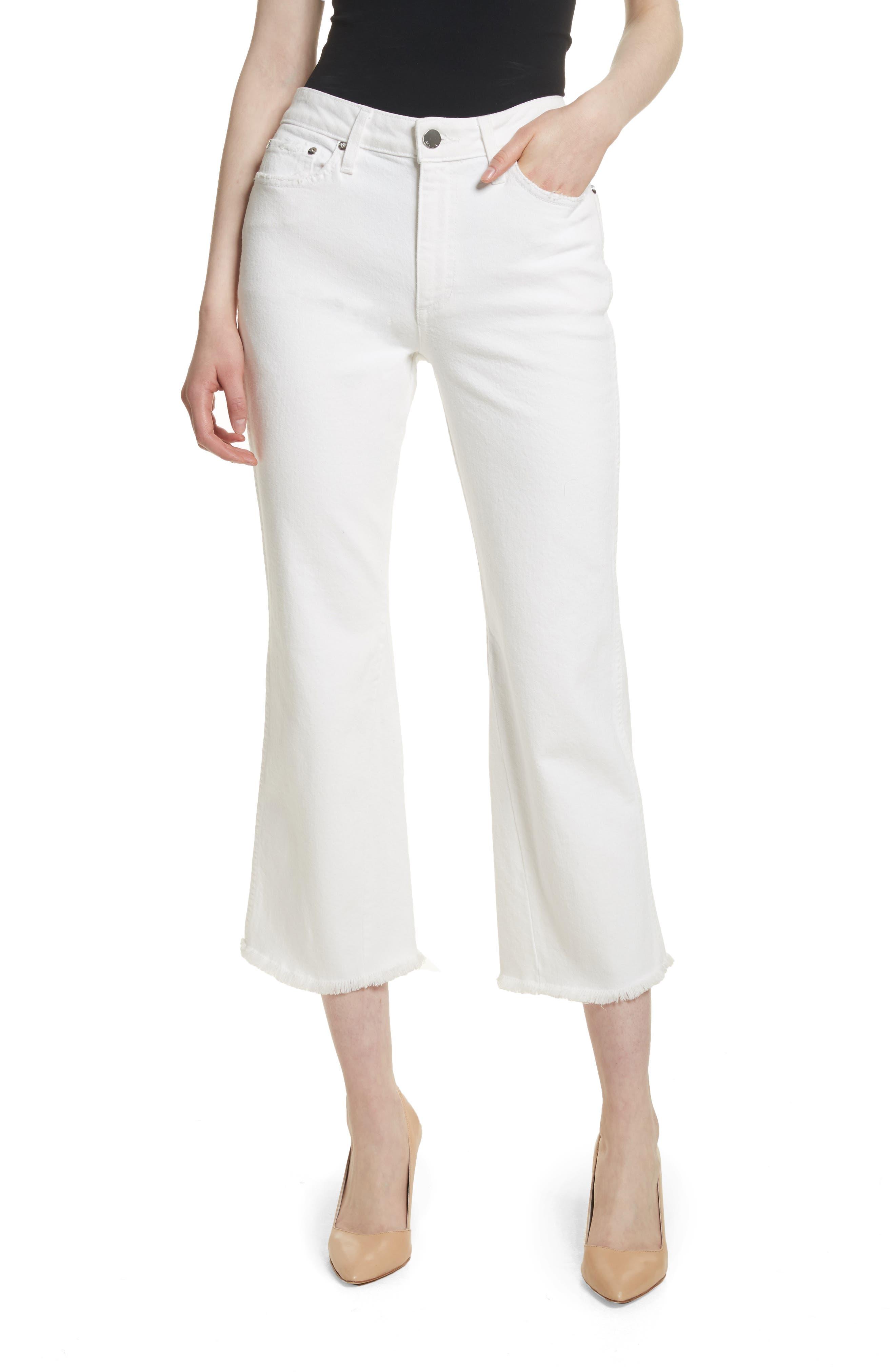 AO.LA Perfect Crop Kick Flare Jeans,                         Main,                         color, 160