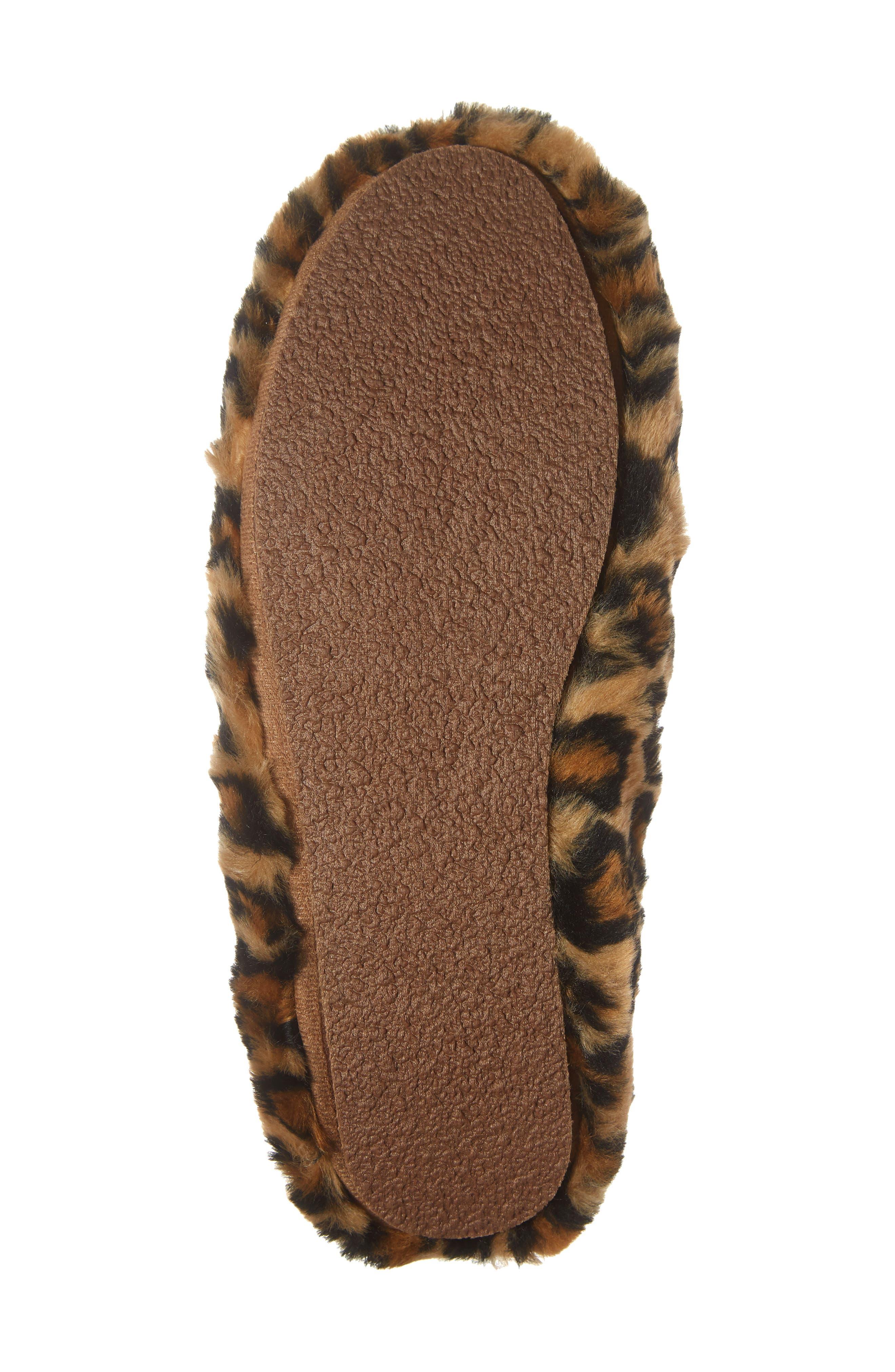 Loafer Scuff Slipper,                             Alternate thumbnail 6, color,                             LEOPARD